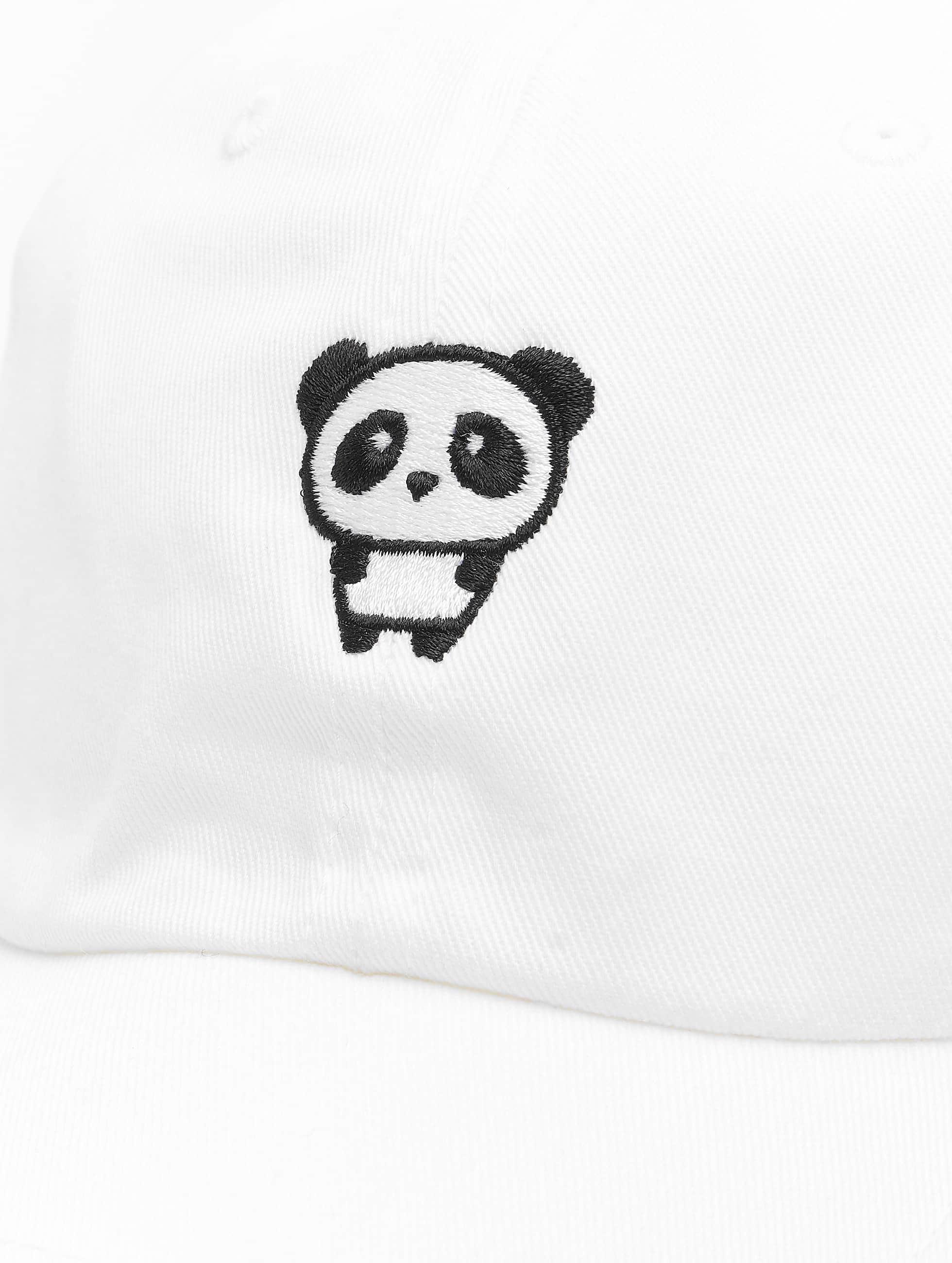 Mister Tee Snapback Cap Panda Dap bianco
