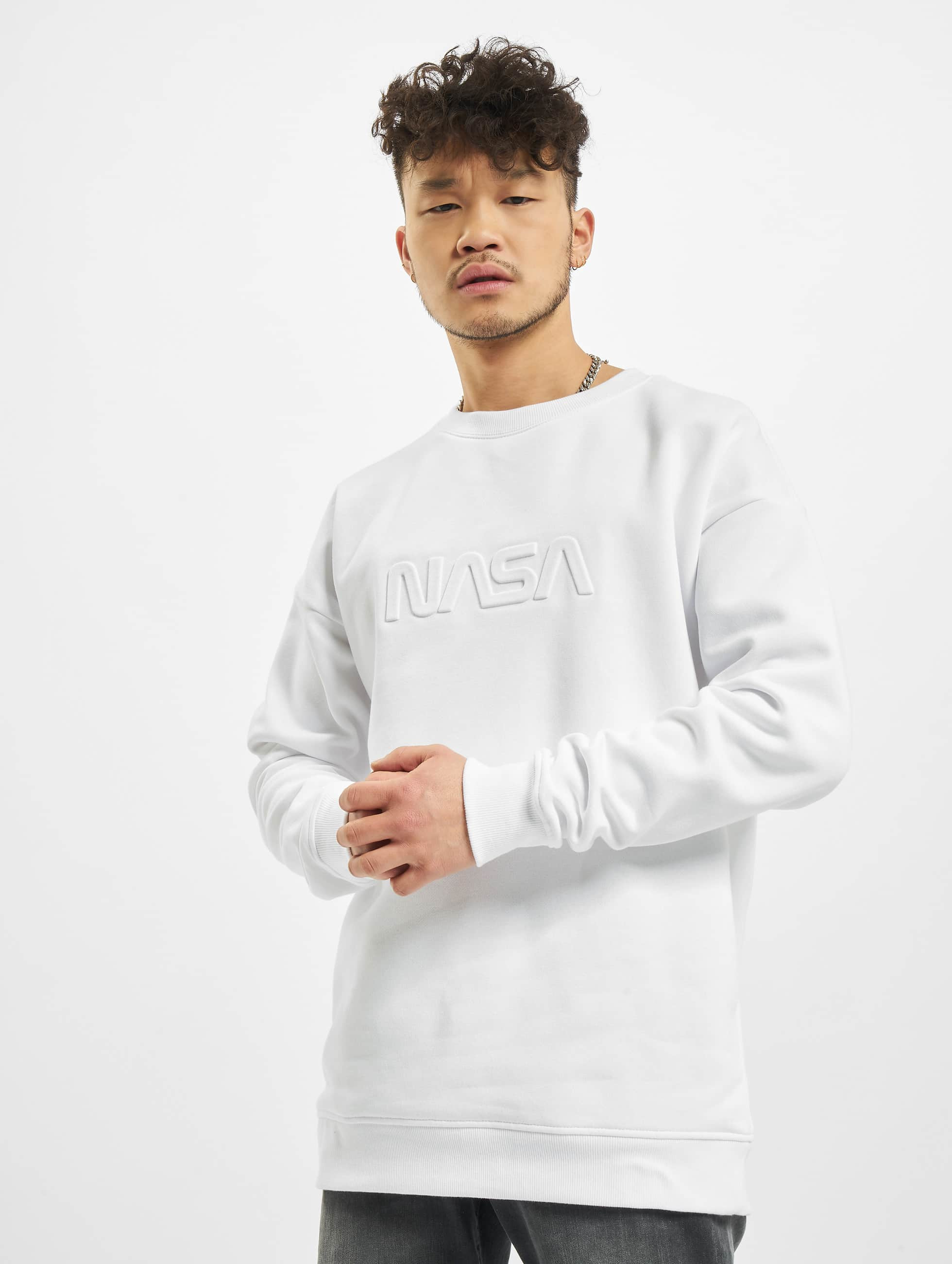 Mister Tee Sweat & Pull Embossed NASA Worm blanc
