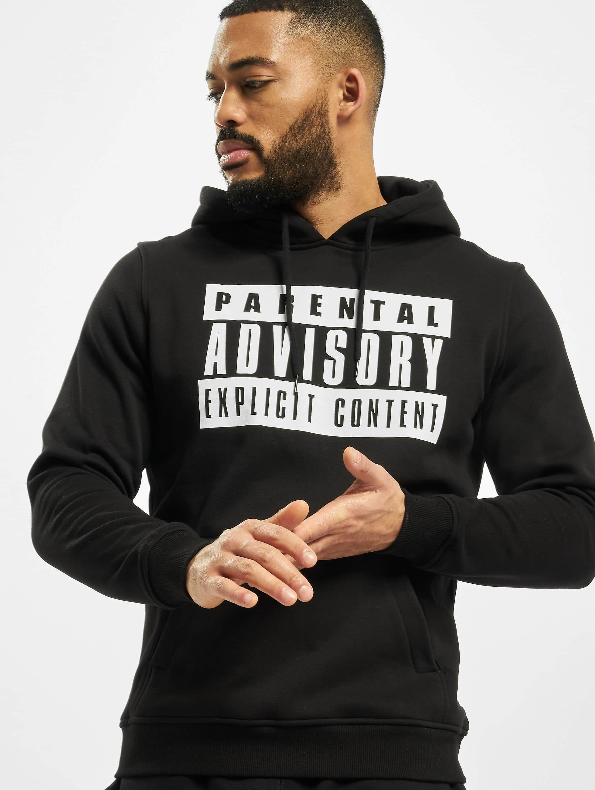 Mister Tee Sweat capuche Parental Advisory noir