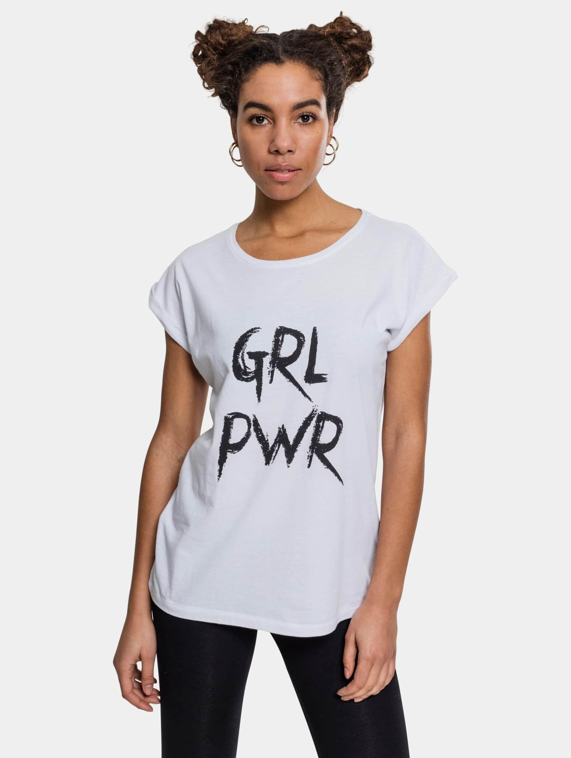 Mister Tee T-paidat GRL PWR valkoinen