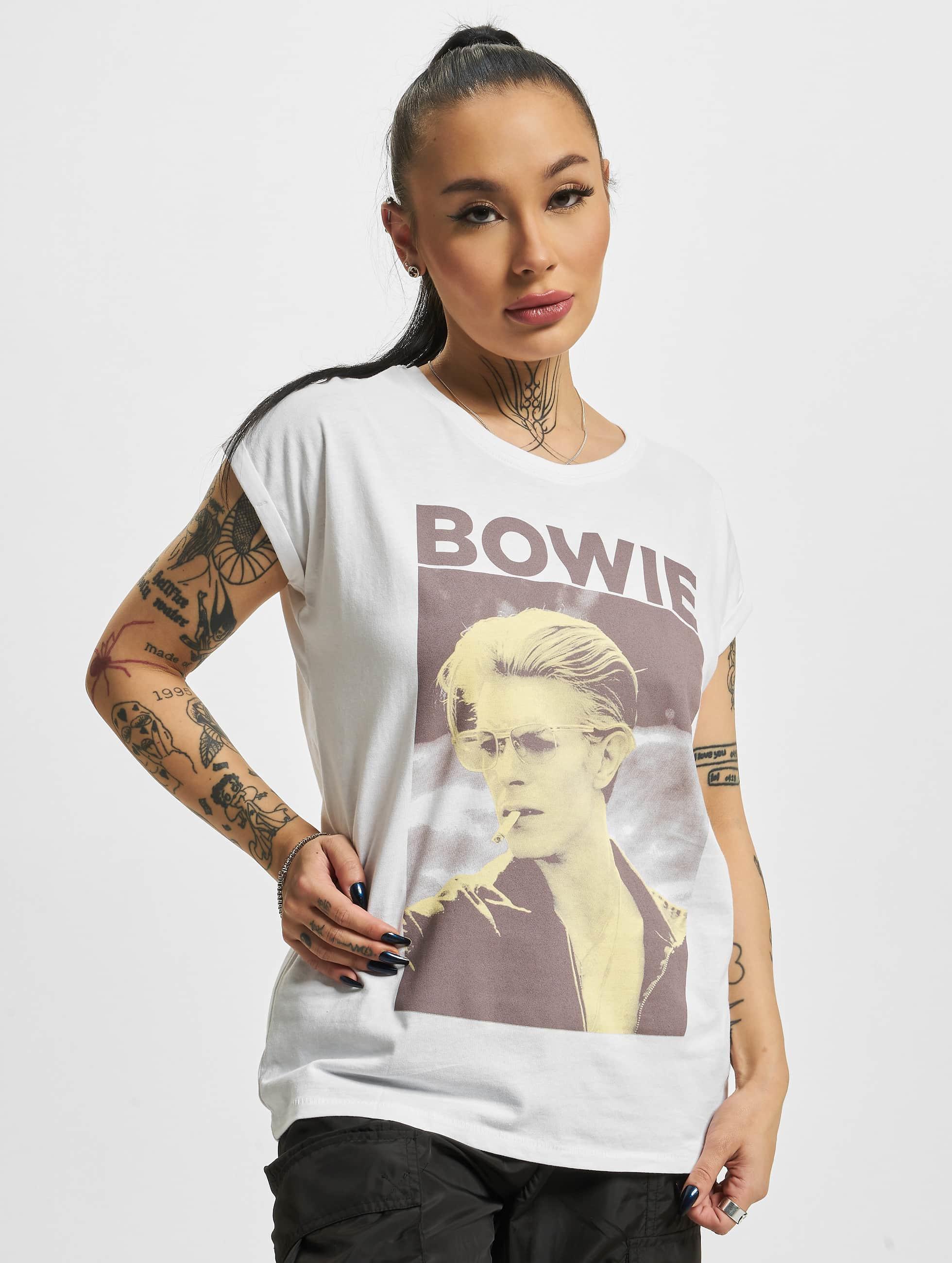 Mister Tee T-paidat David Bowie valkoinen
