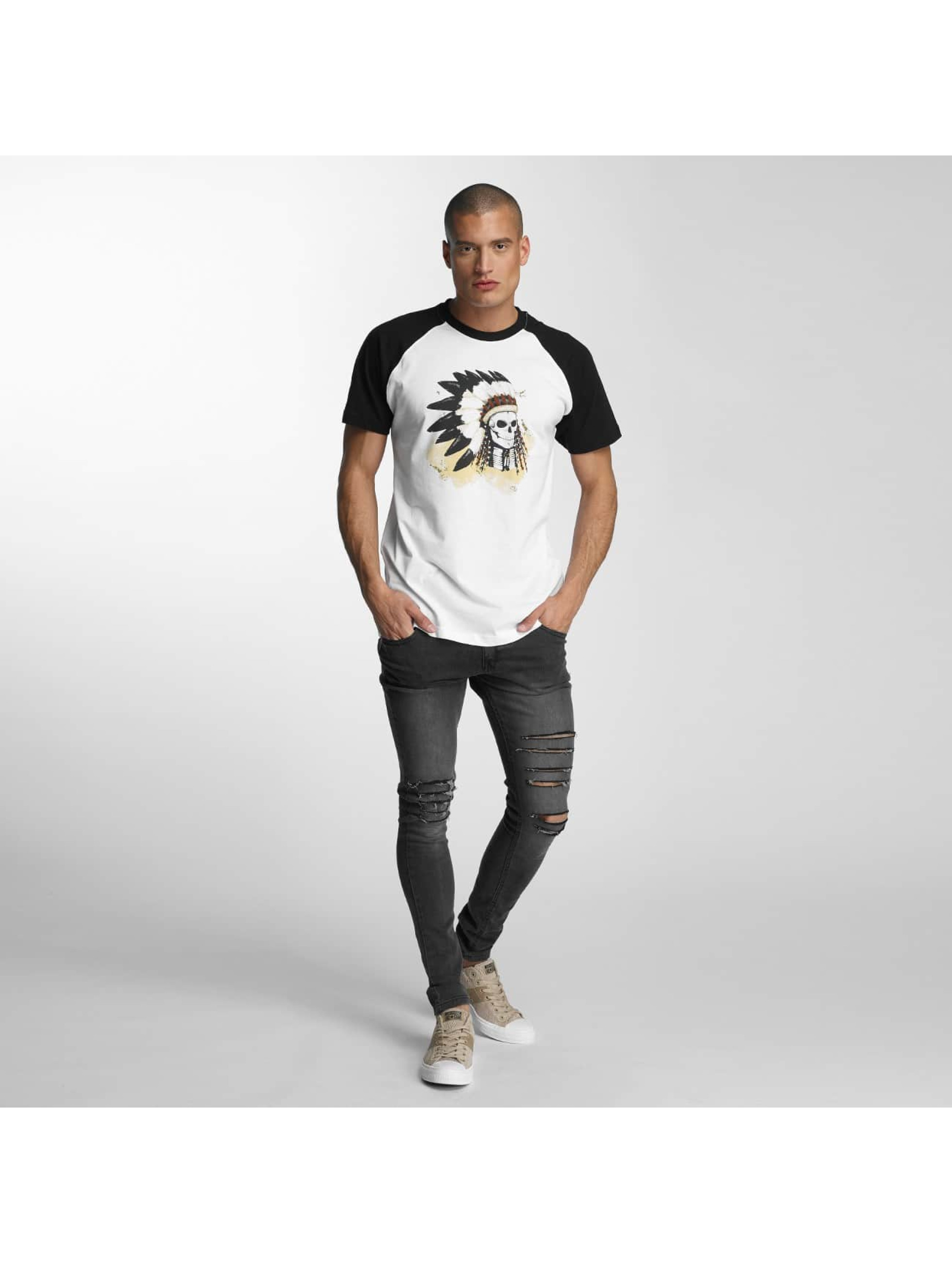 Mister Tee T-shirt Dead Indian bianco