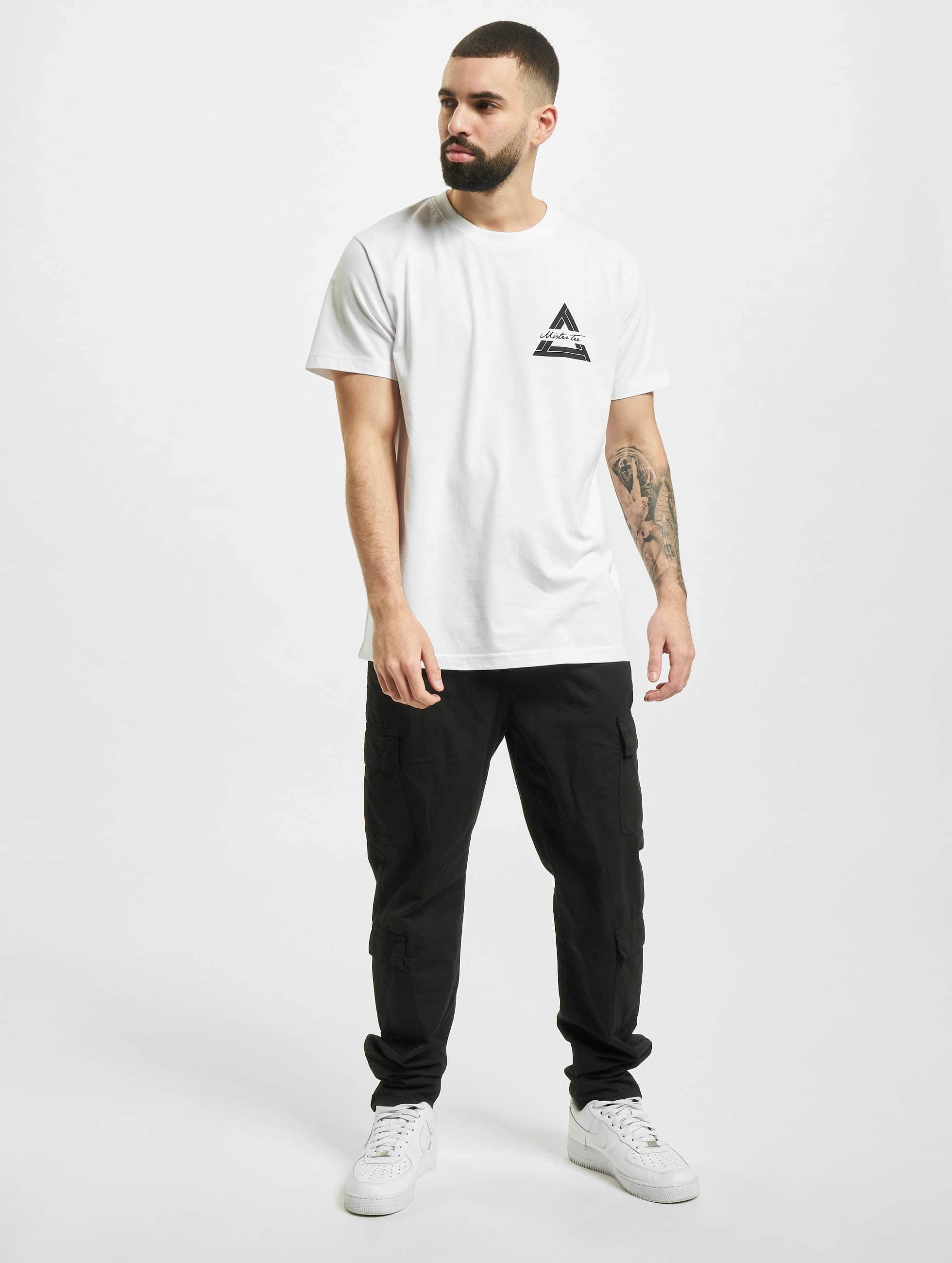 Mister Tee T-shirt Triangle bianco