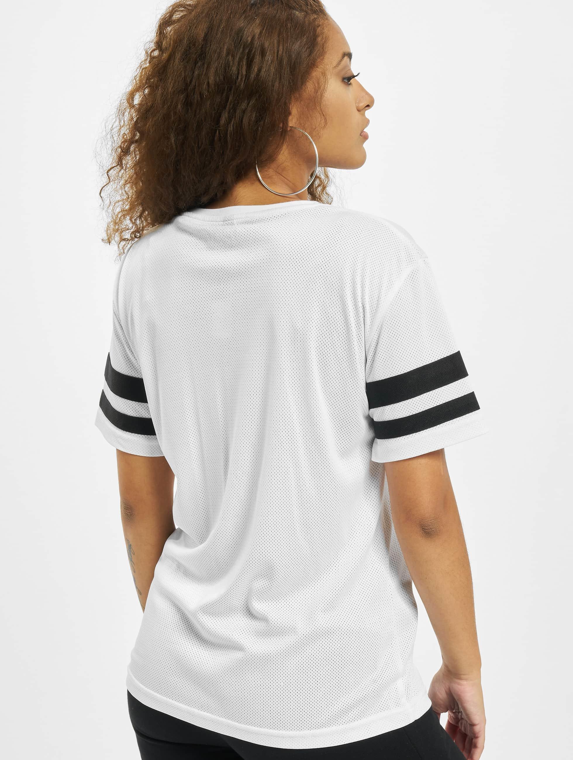 Mister Tee T-shirt 2Pac Stripes bianco