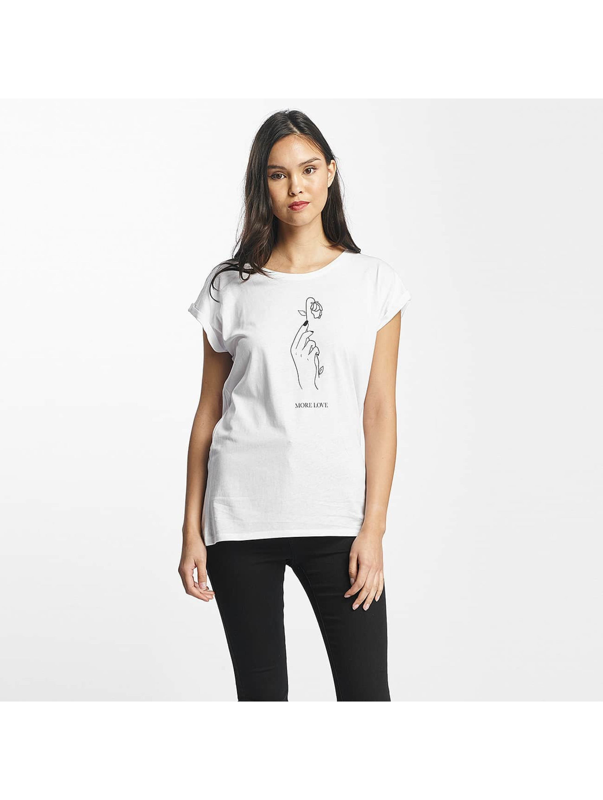 Mister Tee T-shirt More Love bianco