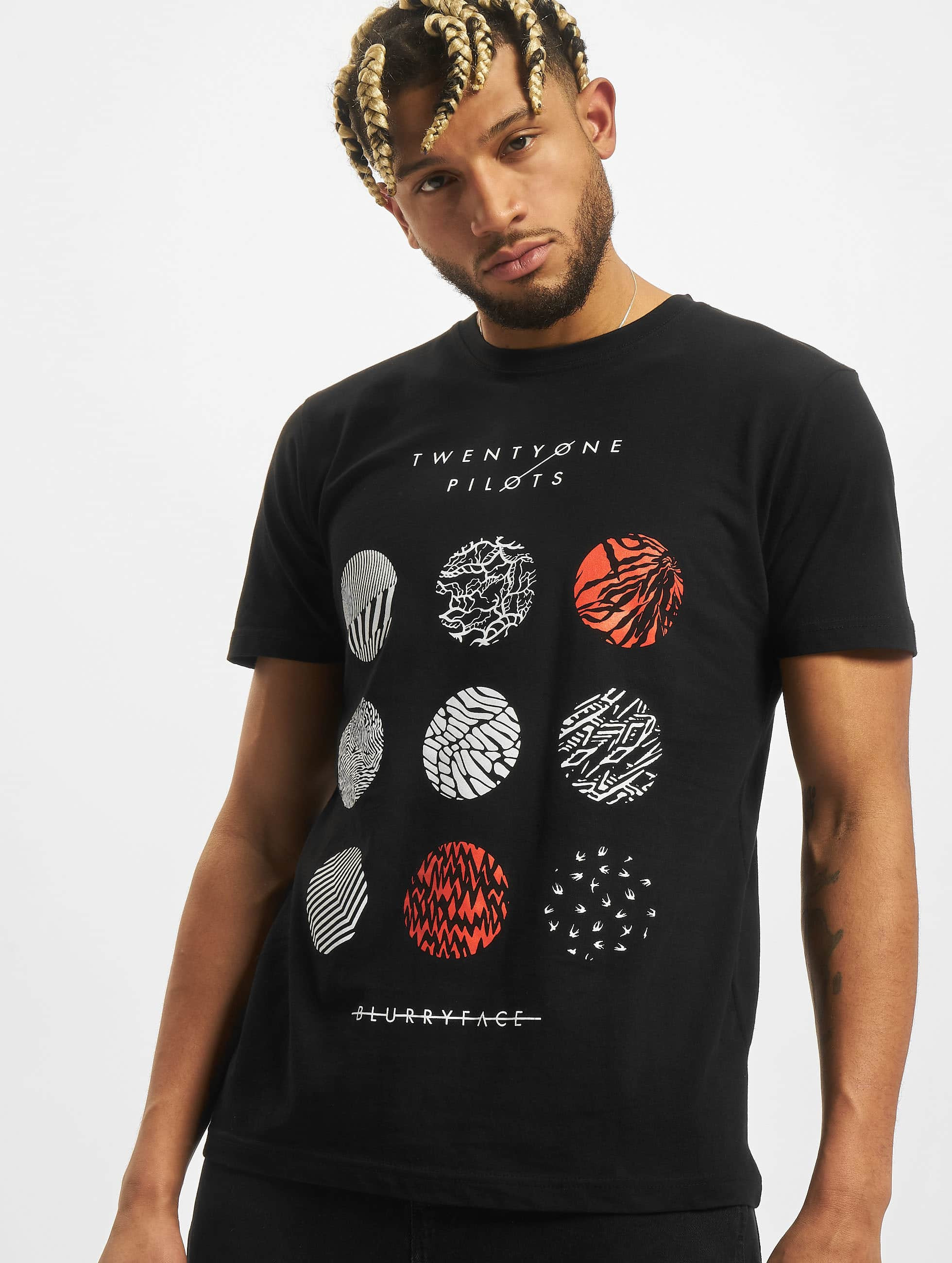 Mister Tee T-Shirt Twenty One Pilots Pattern Circles black