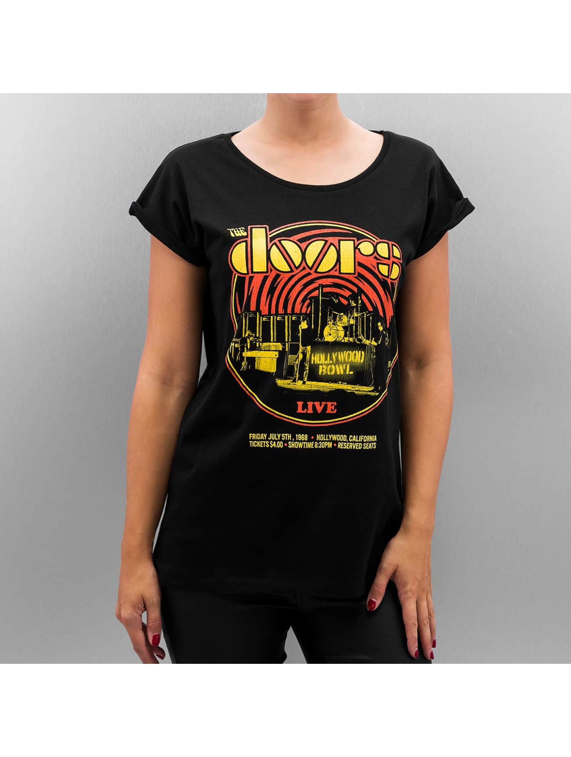 Mister Tee T-Shirt Ladies The Doors Warm black