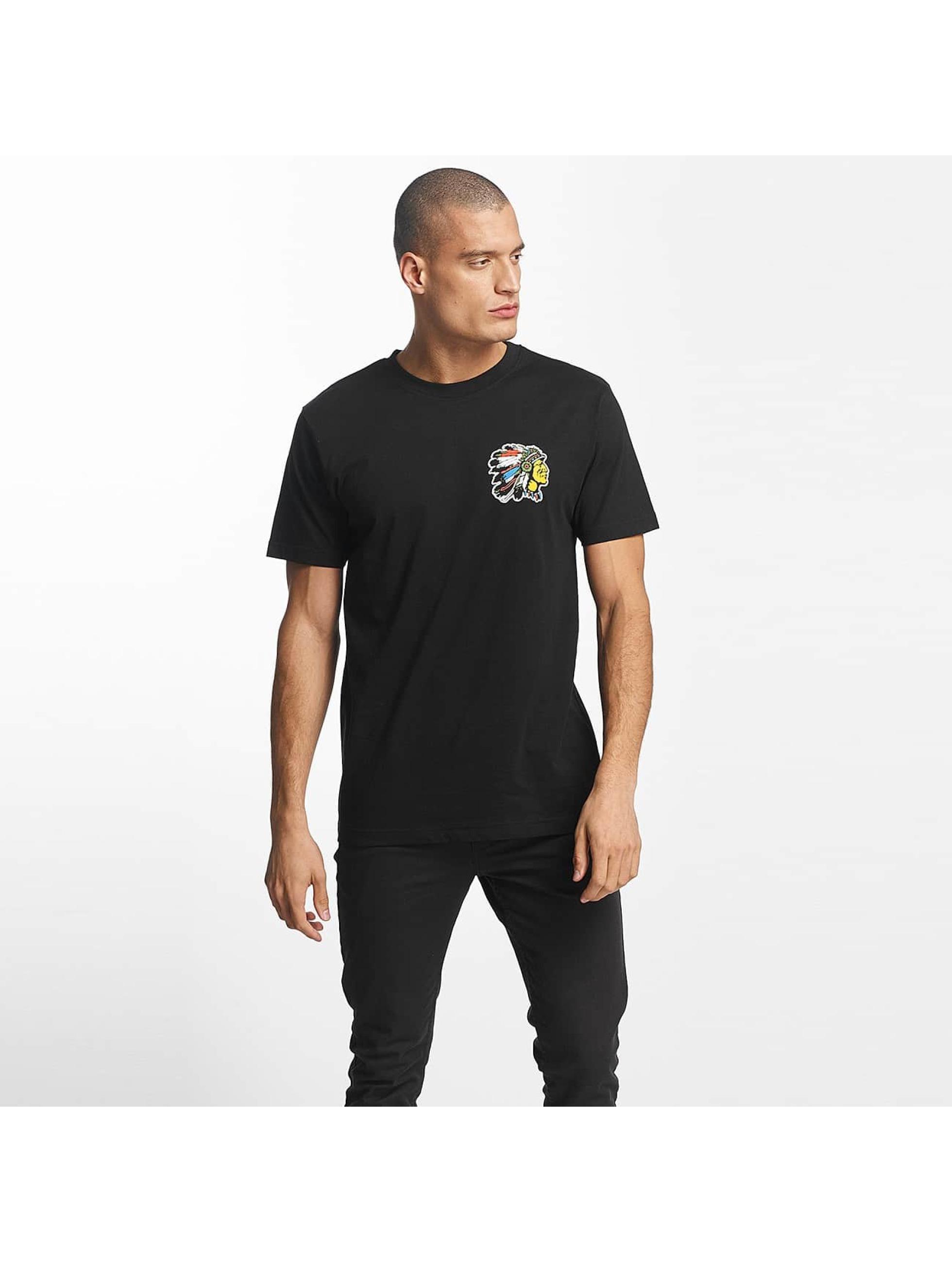 Mister Tee T-Shirt Indian Logo black
