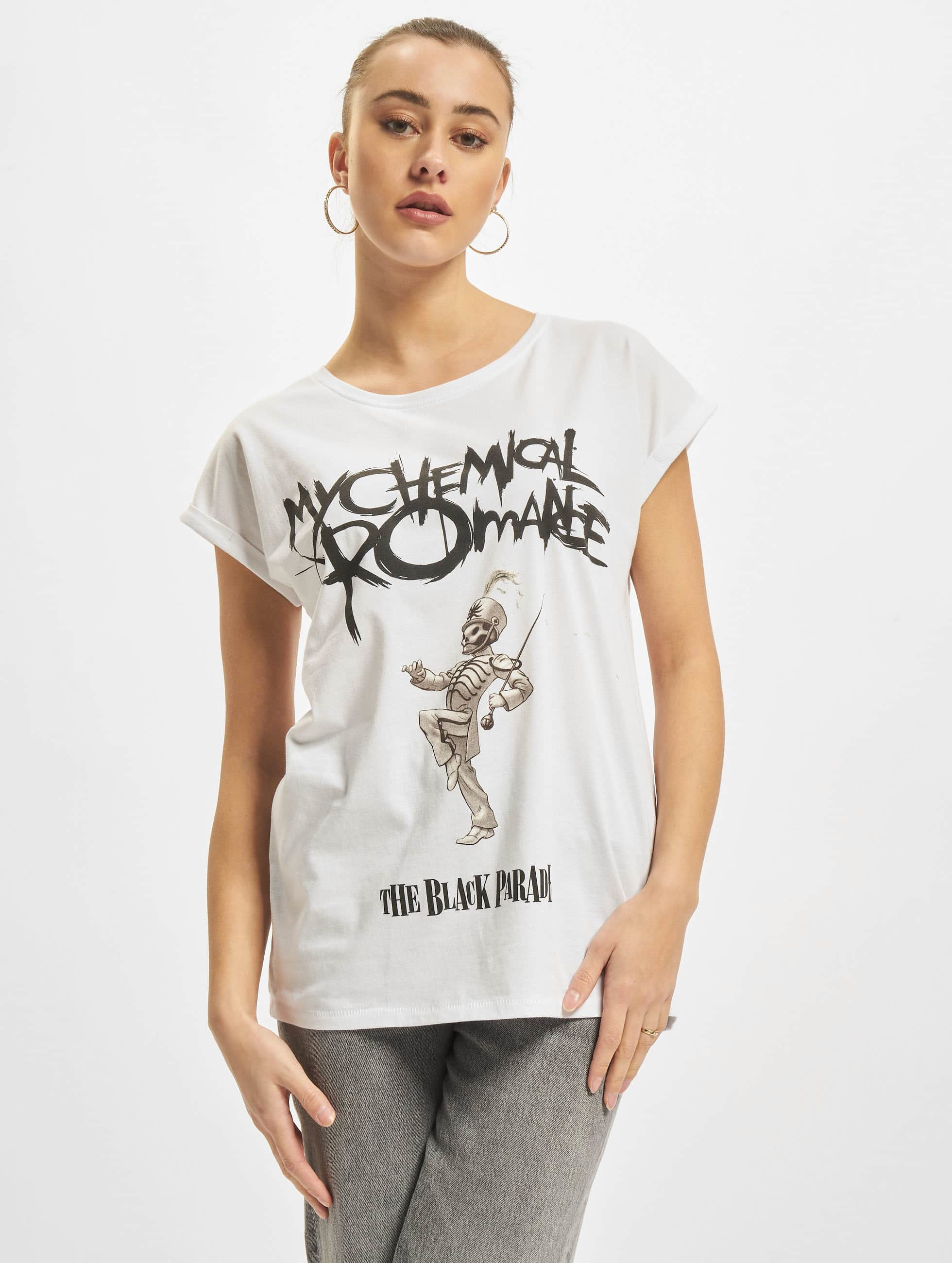 Mister Tee T-Shirt My Chemical Romance Black Parade Cover blanc