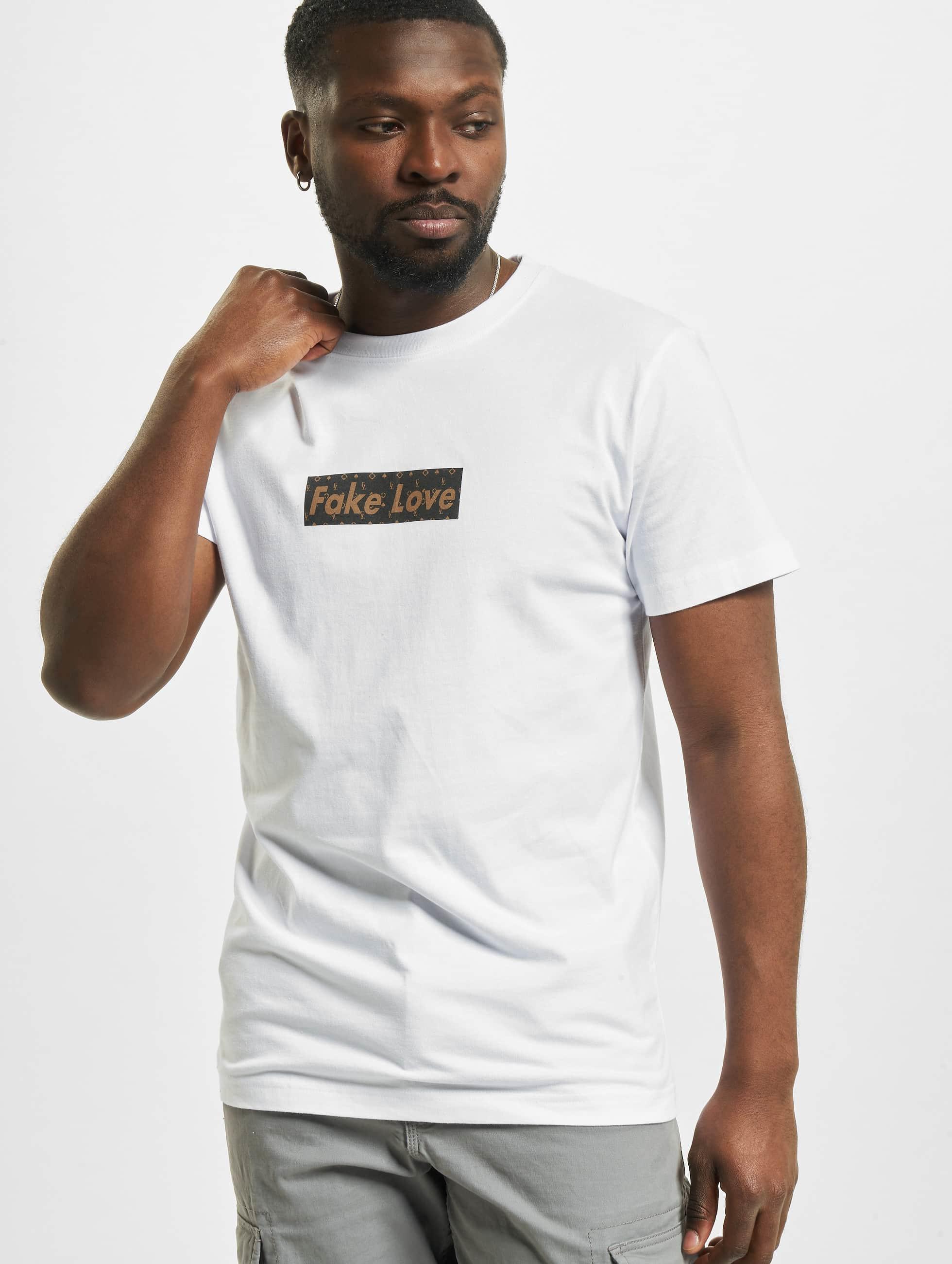Mister Tee T-Shirt Fake Love blanc