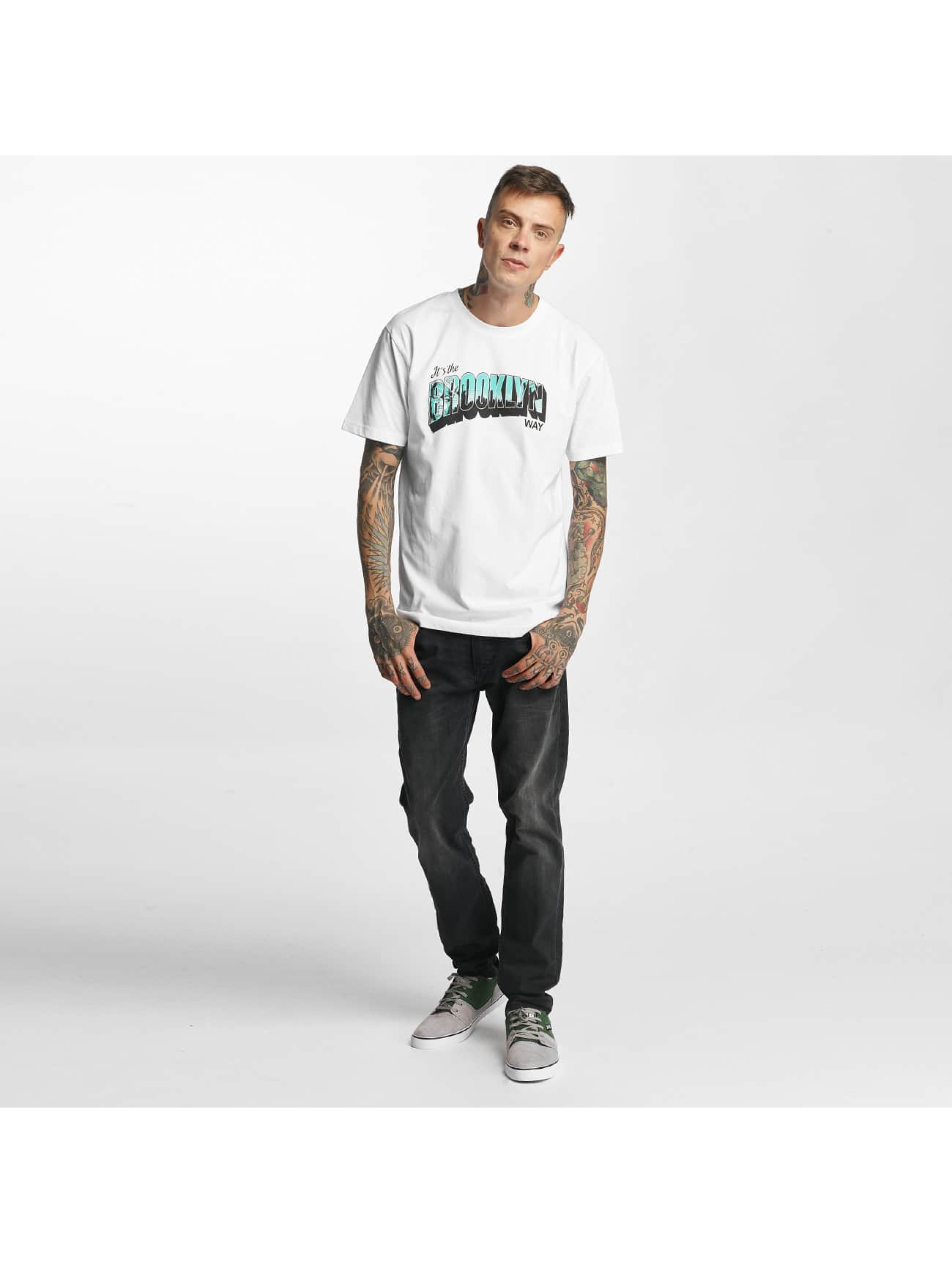 Mister Tee T-Shirt Brooklyn Way blanc