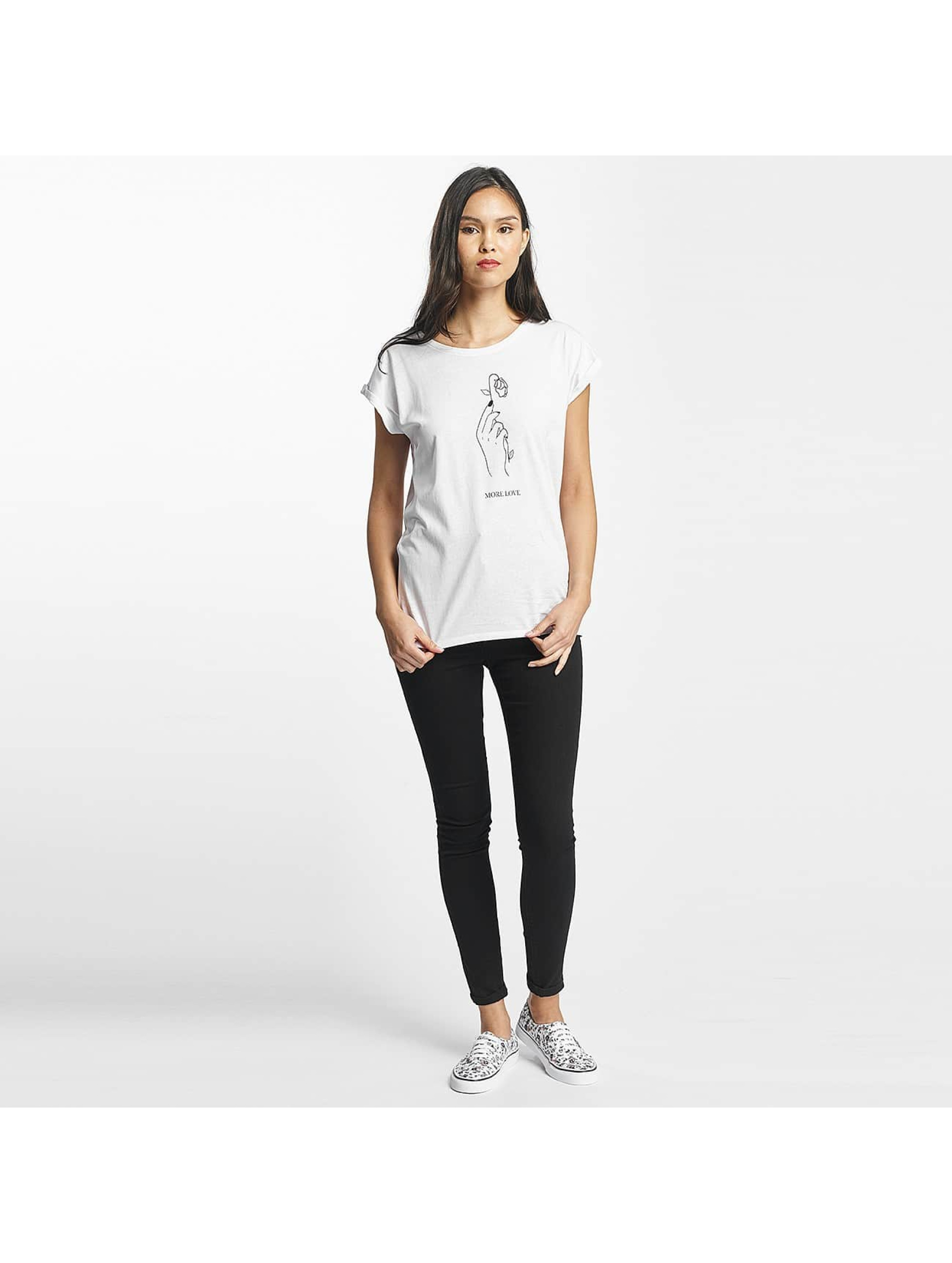 Mister Tee T-Shirt More Love blanc