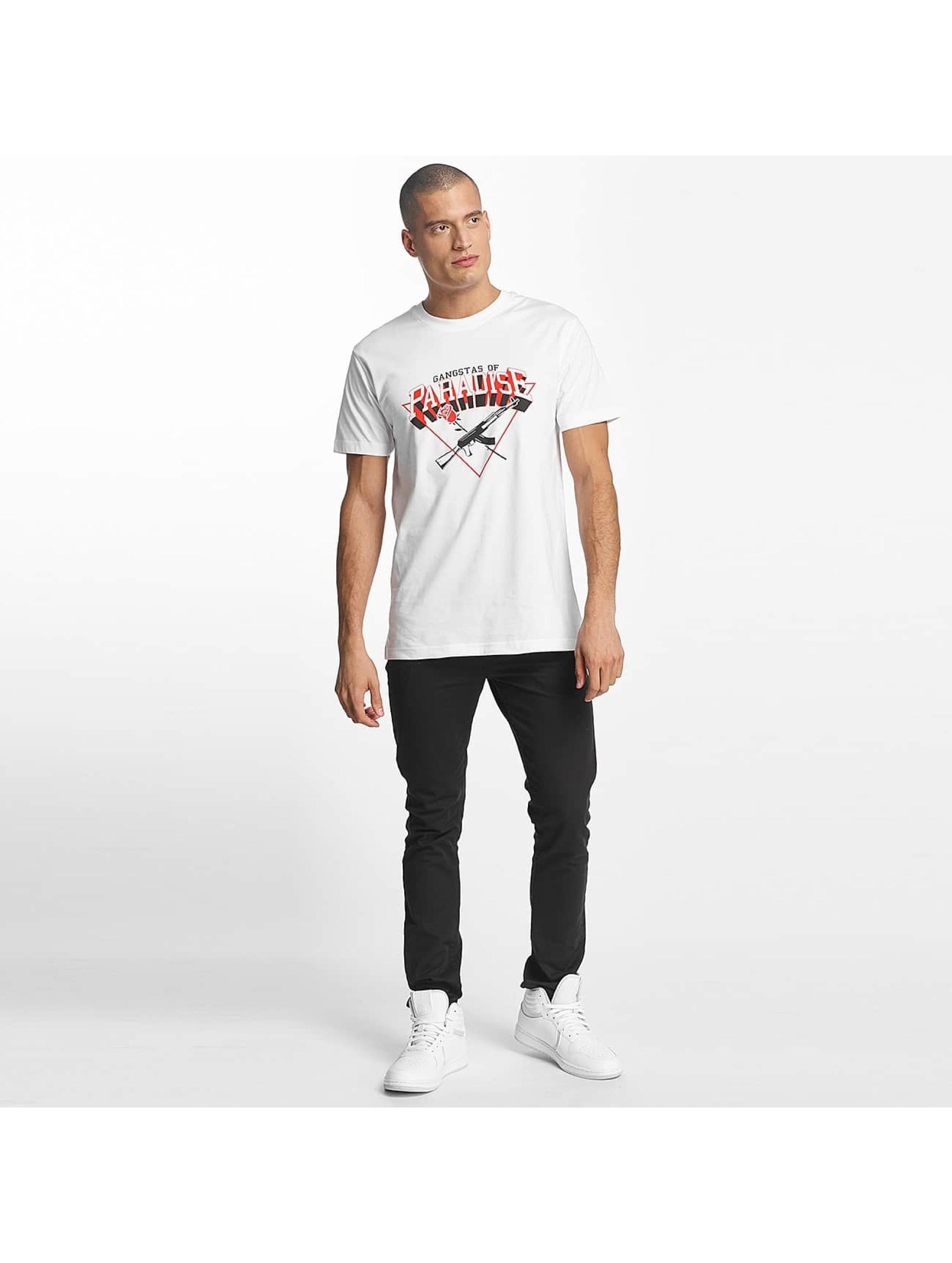 Mister Tee T-Shirt Gangstas of Paradise blanc
