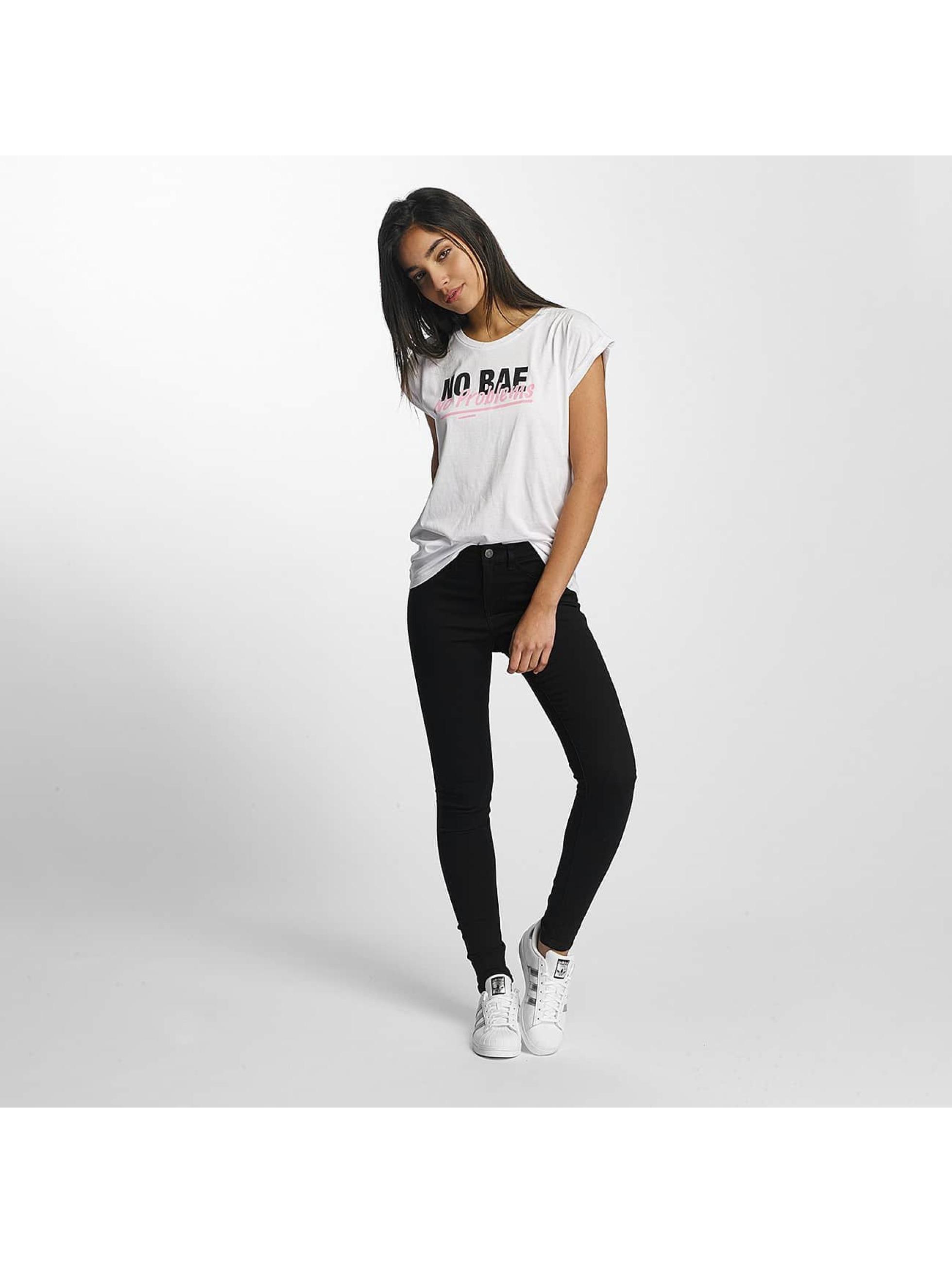 Mister Tee T-Shirt No Bae Problems blanc