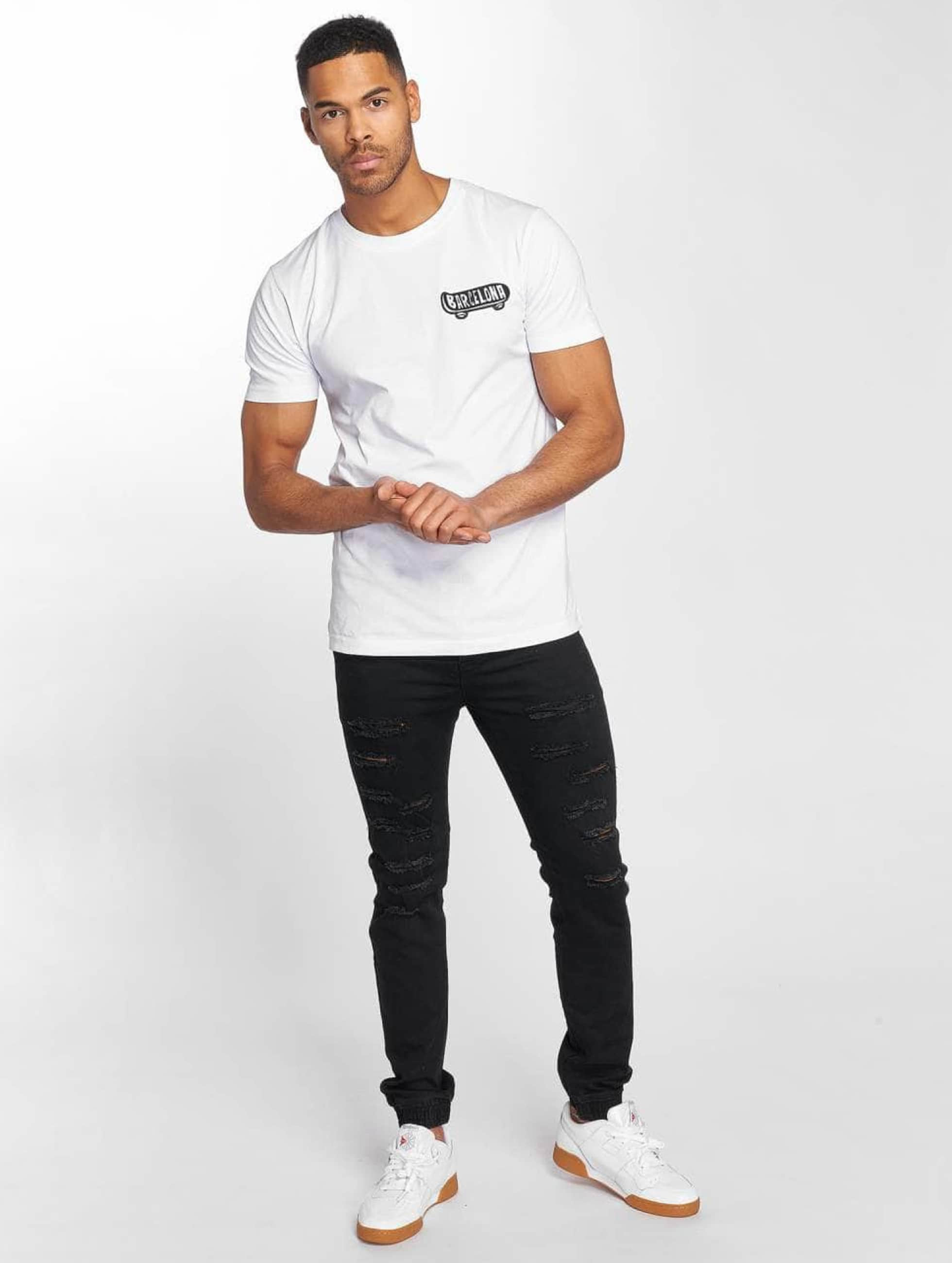 Mister Tee T-Shirt Barcelona blanc