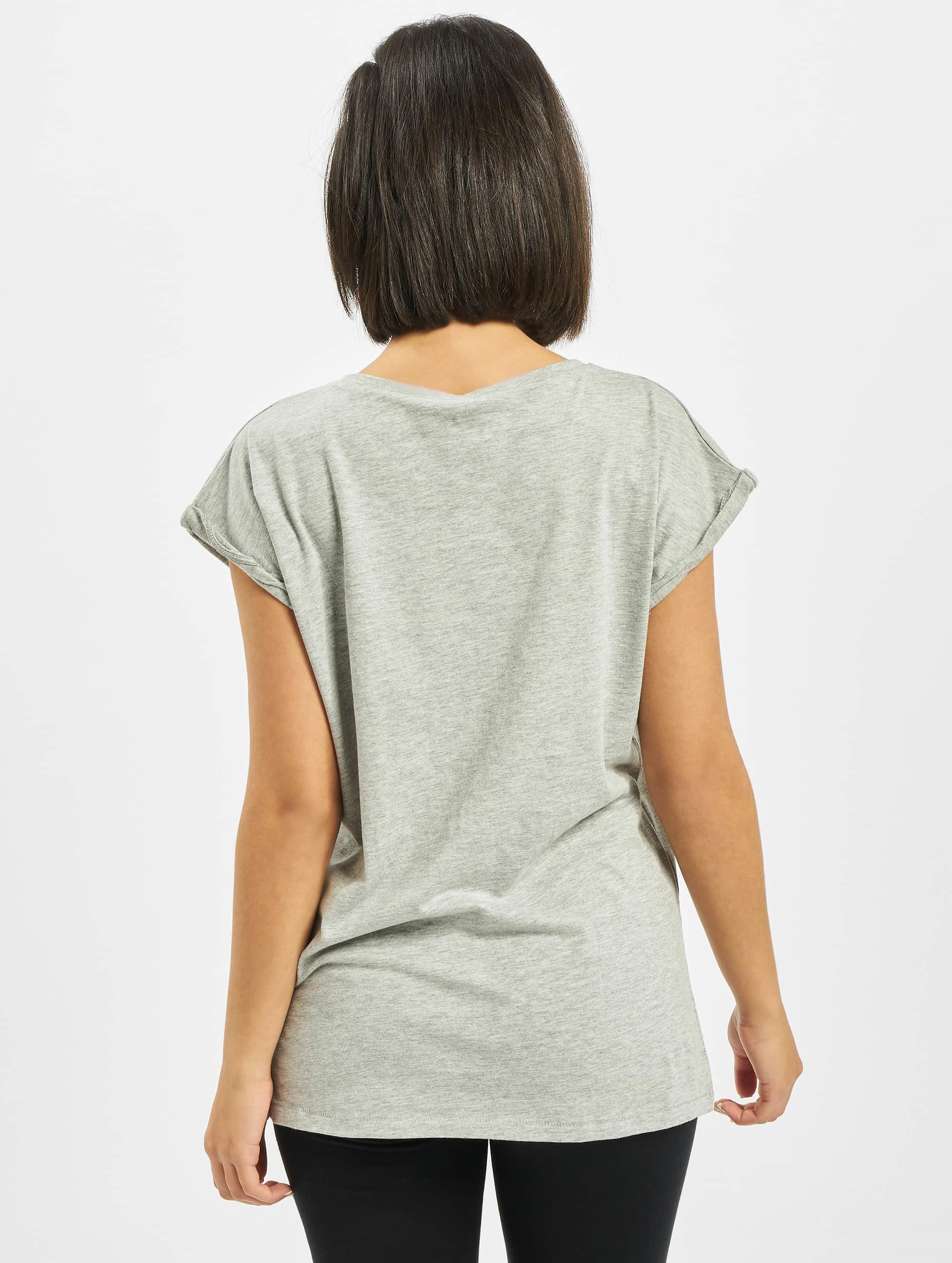 Mister Tee T-Shirt Ladies Five Seconds Of Summer Longprint grau