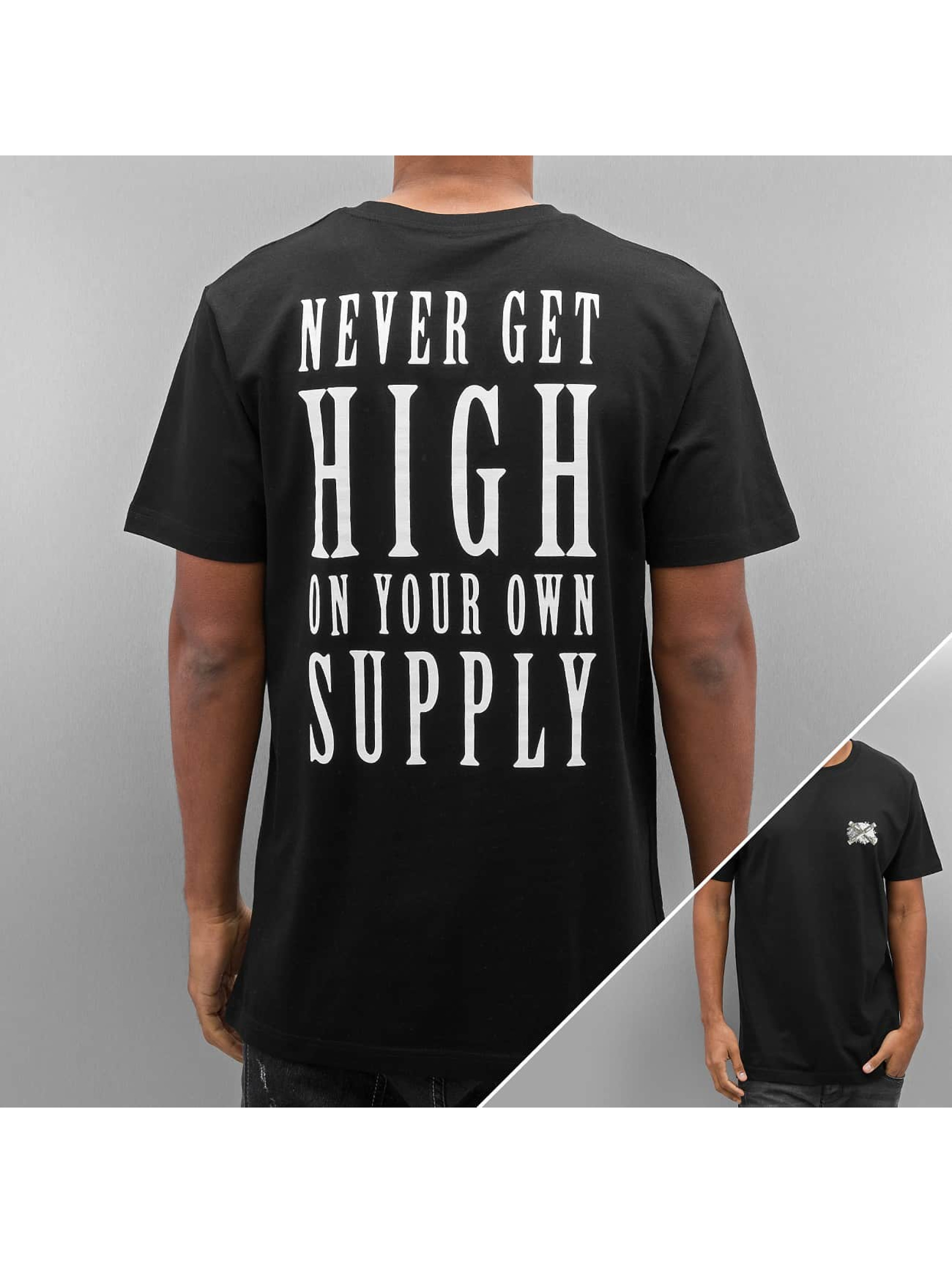 Mister Tee T-shirt Never Get High nero