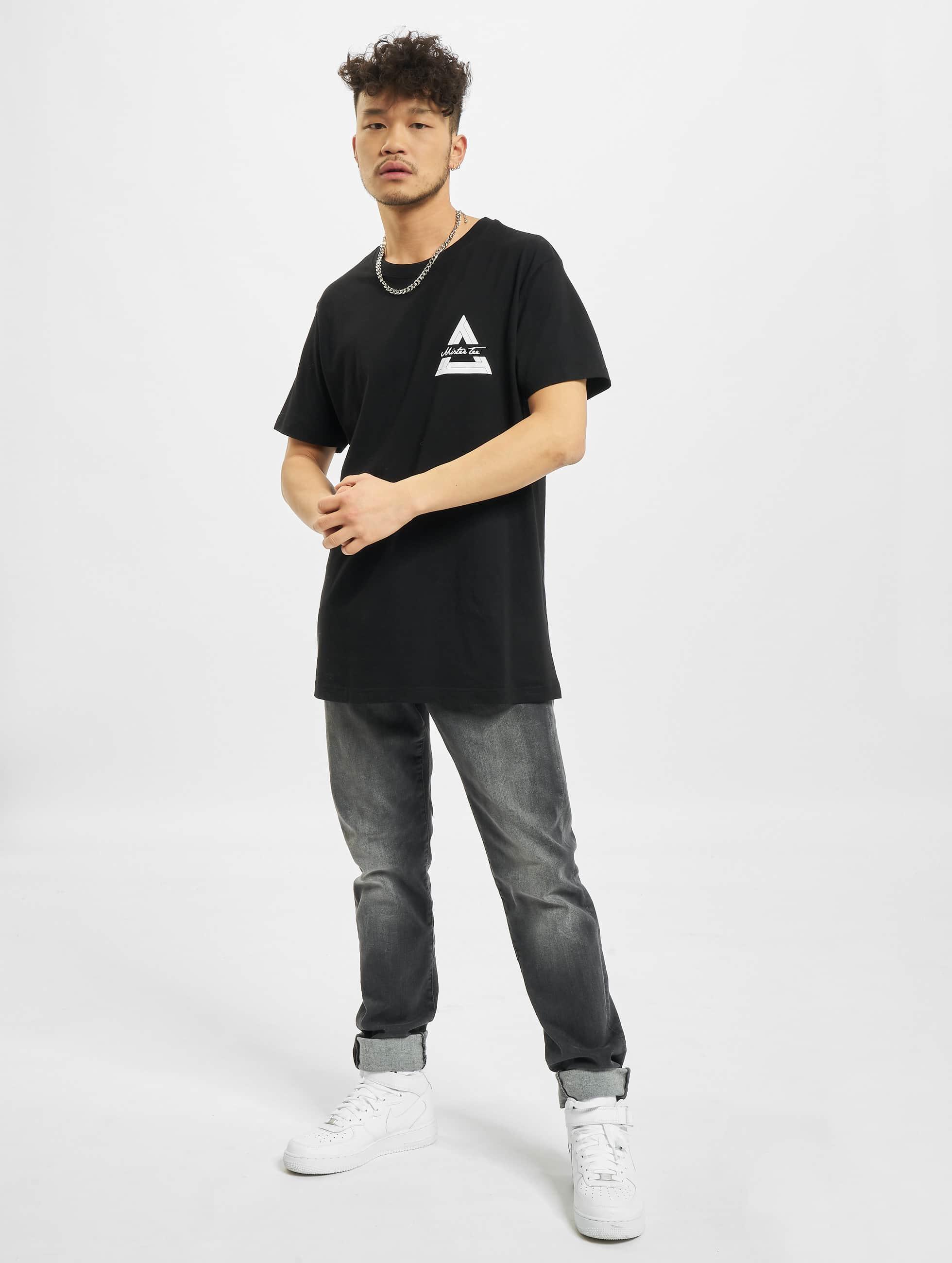 Mister Tee T-shirt Triangle nero