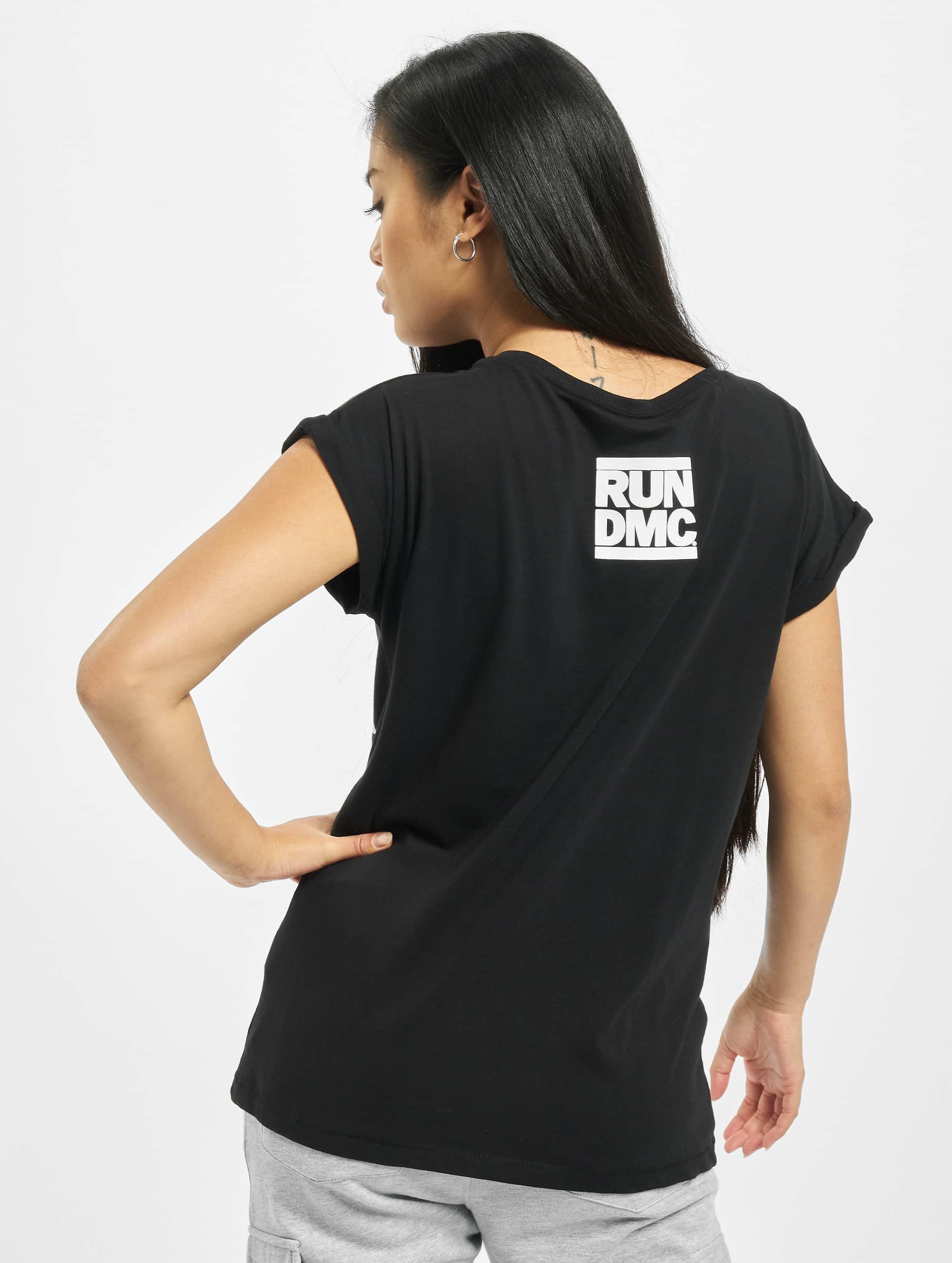 Mister Tee Haut / T-Shirt Run DMC Logo en noir