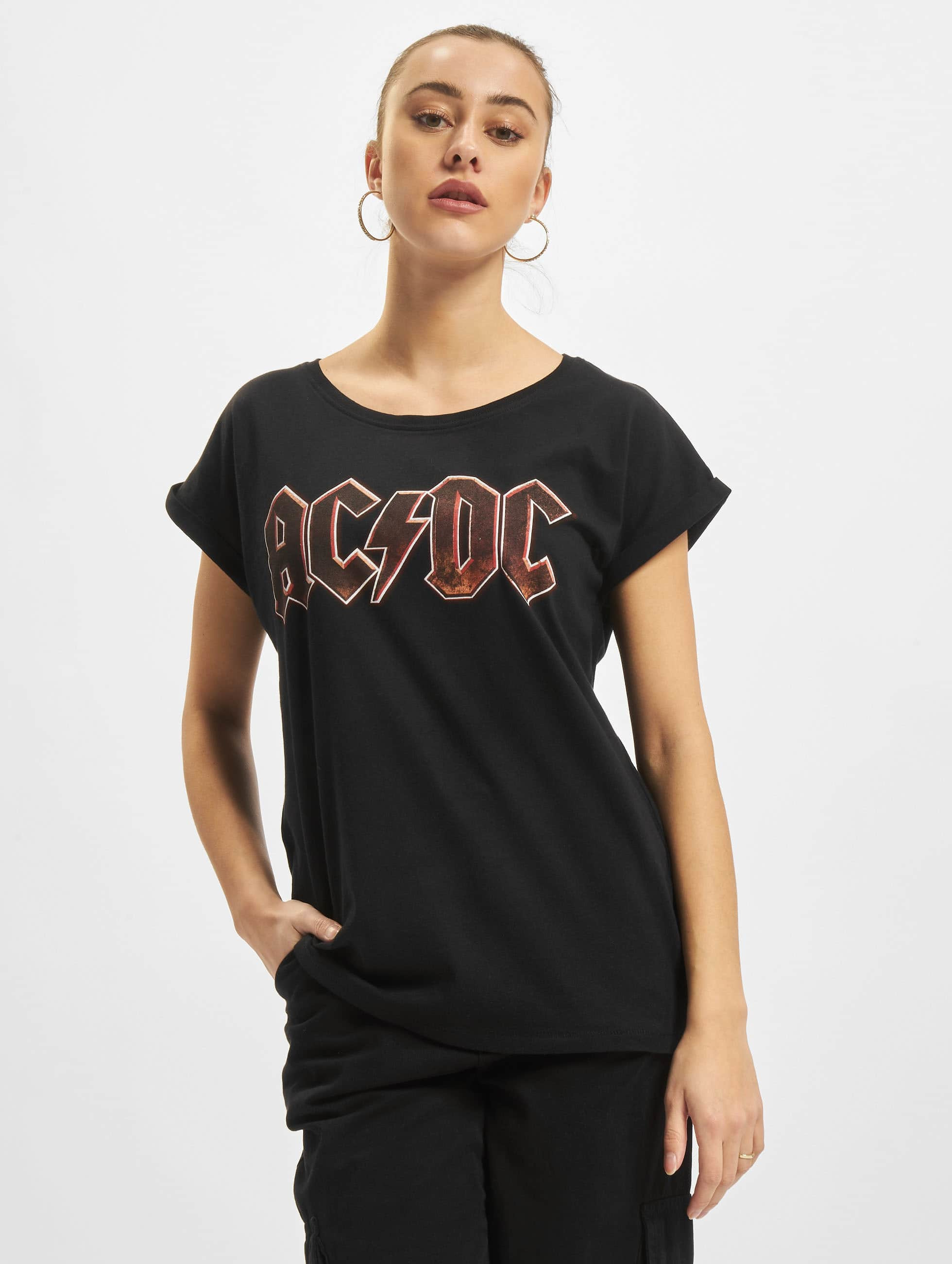Mister Tee Haut / T-Shirt Ladies AC/DC Voltage en noir