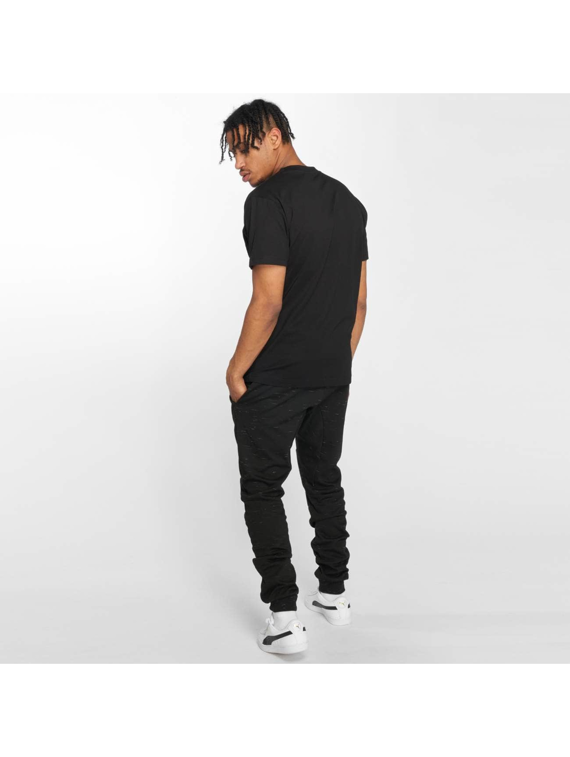 Mister Tee T-Shirt Embroidered noir