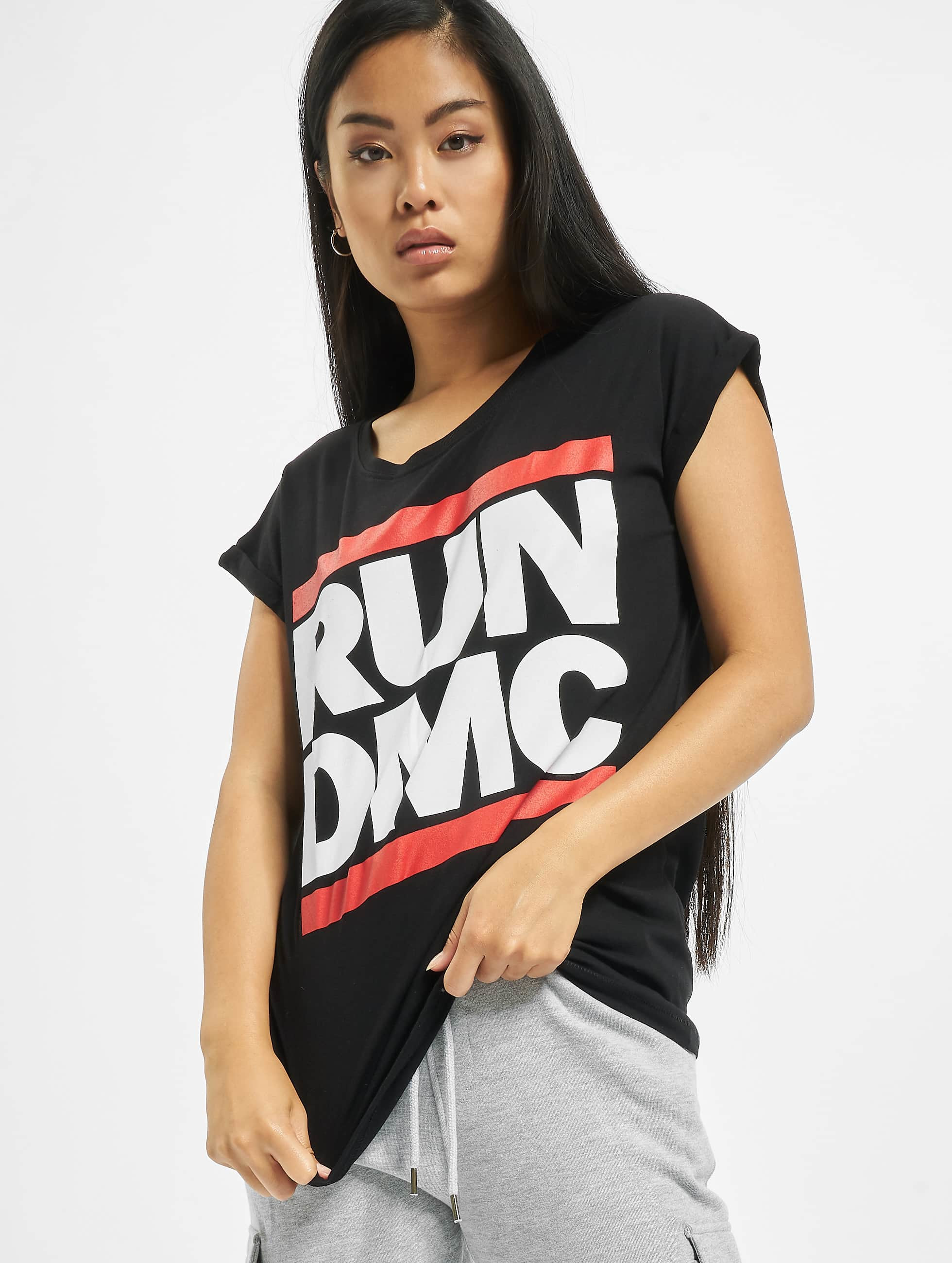 Oberteil / T-Shirt Run DMC Logo in schwarz