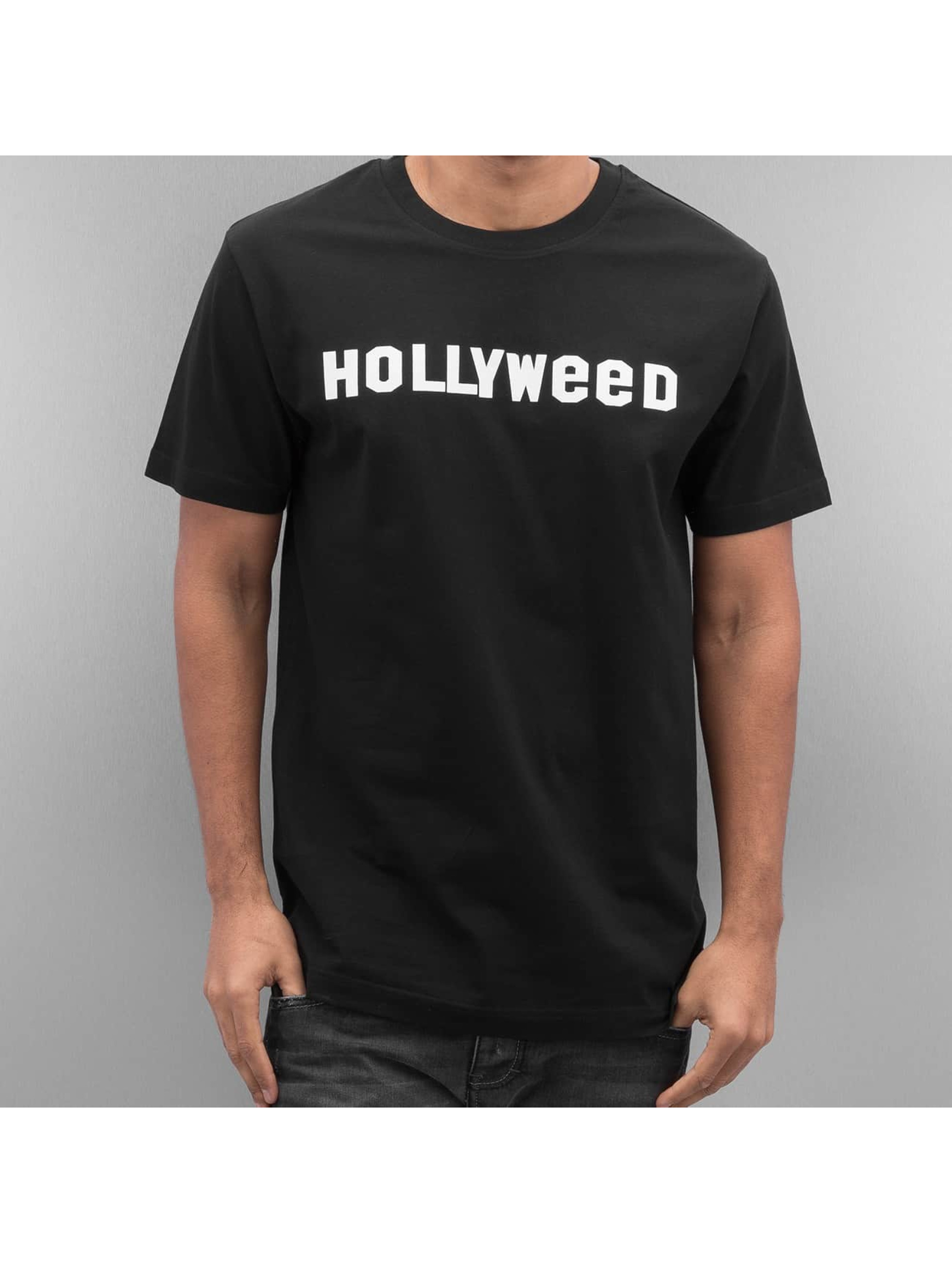 Mister Tee T-Shirt Hollyweed schwarz
