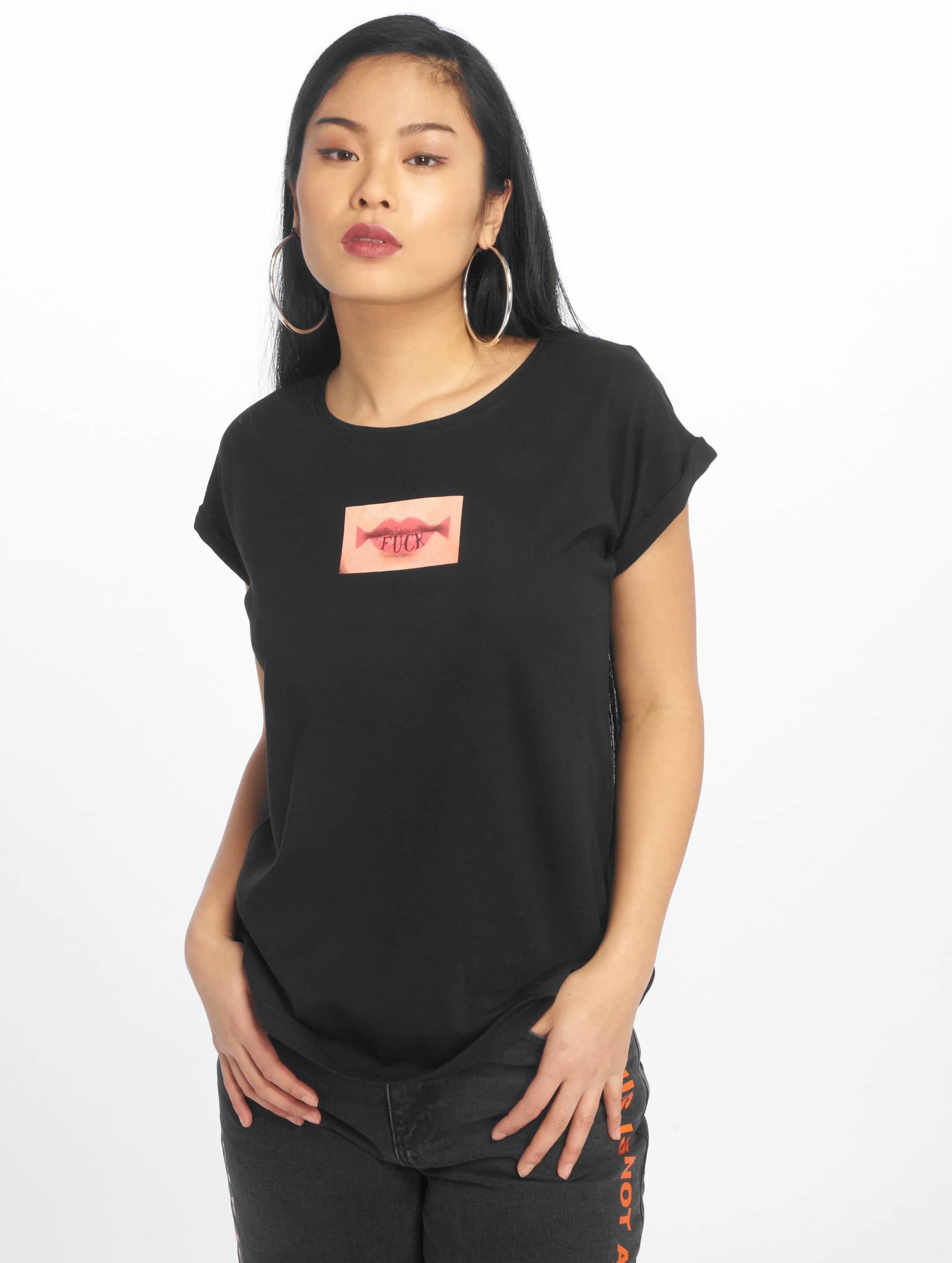 Mister Tee T-Shirt Fuck Lips schwarz