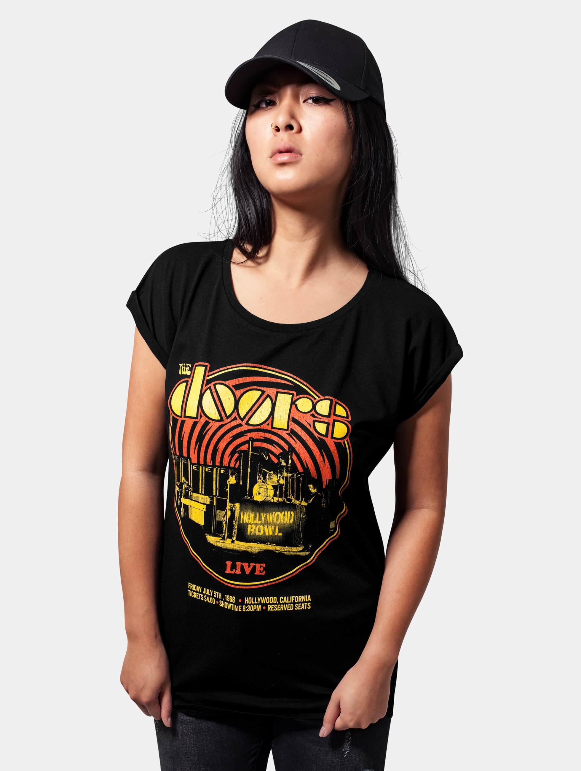 Mister Tee T-shirt Ladies The Doors Warm svart