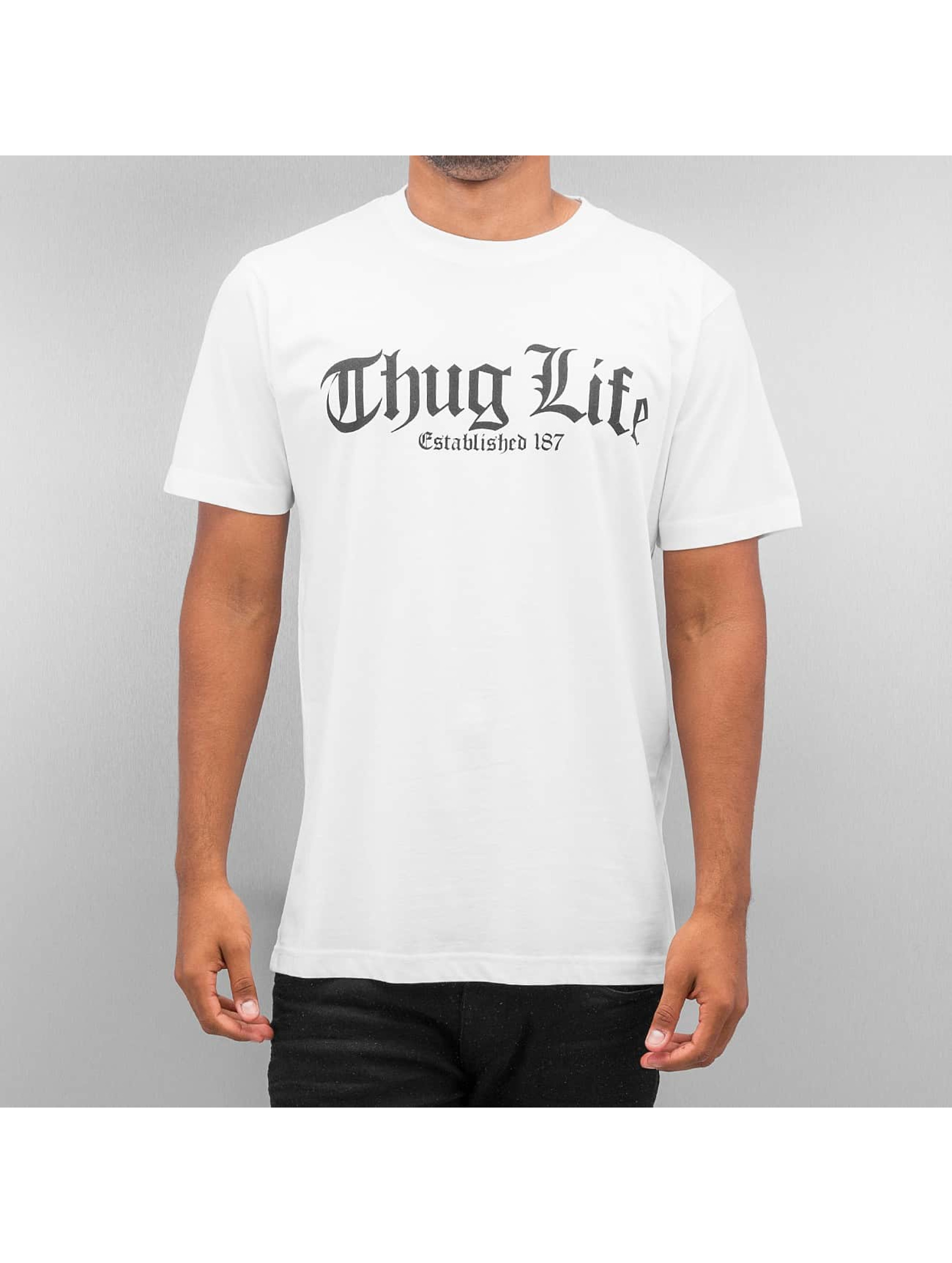Mister Tee T-Shirt Thug Life Old English weiß