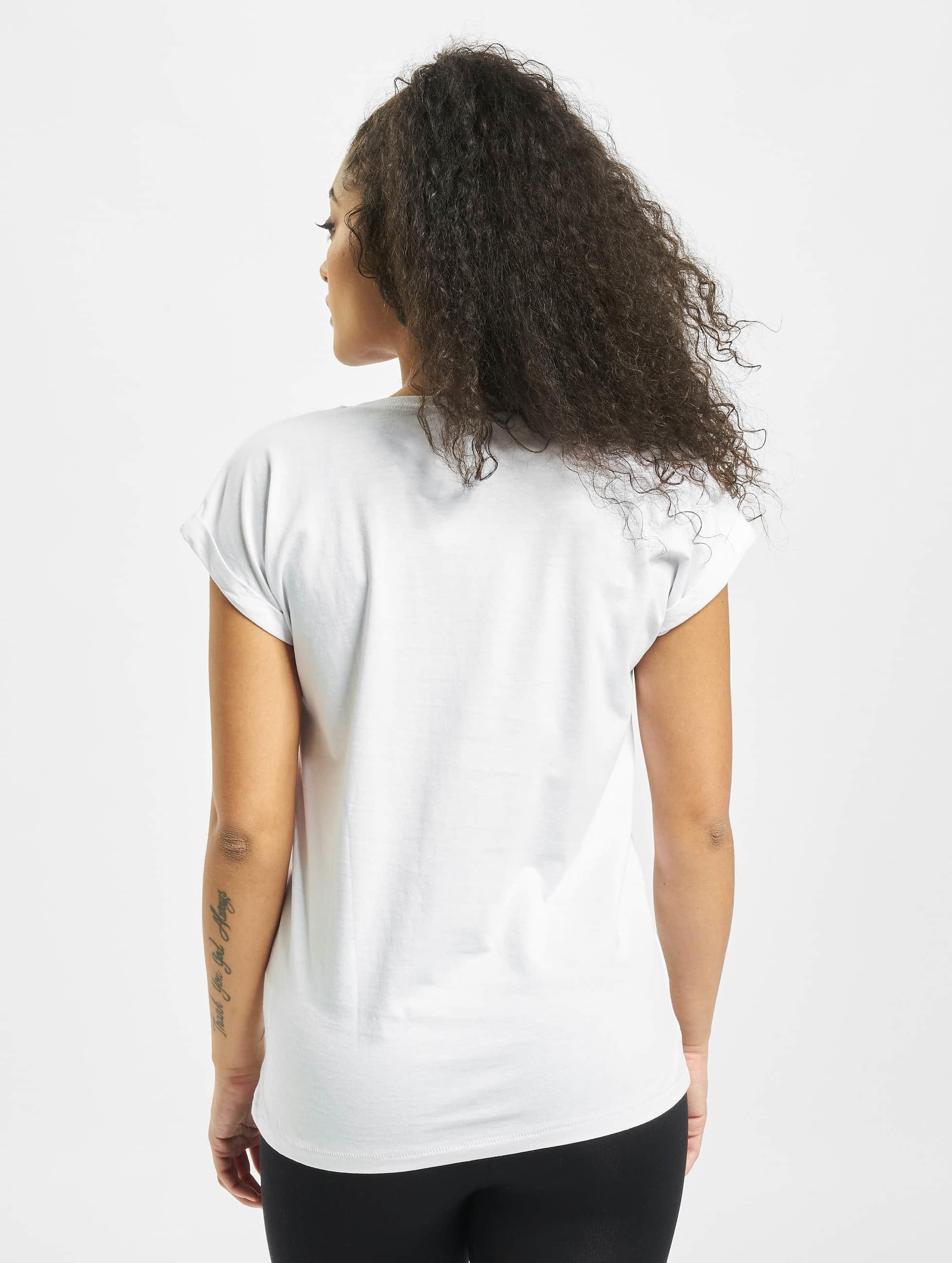 Mister Tee T-Shirt Ladies Parental Advisory weiß