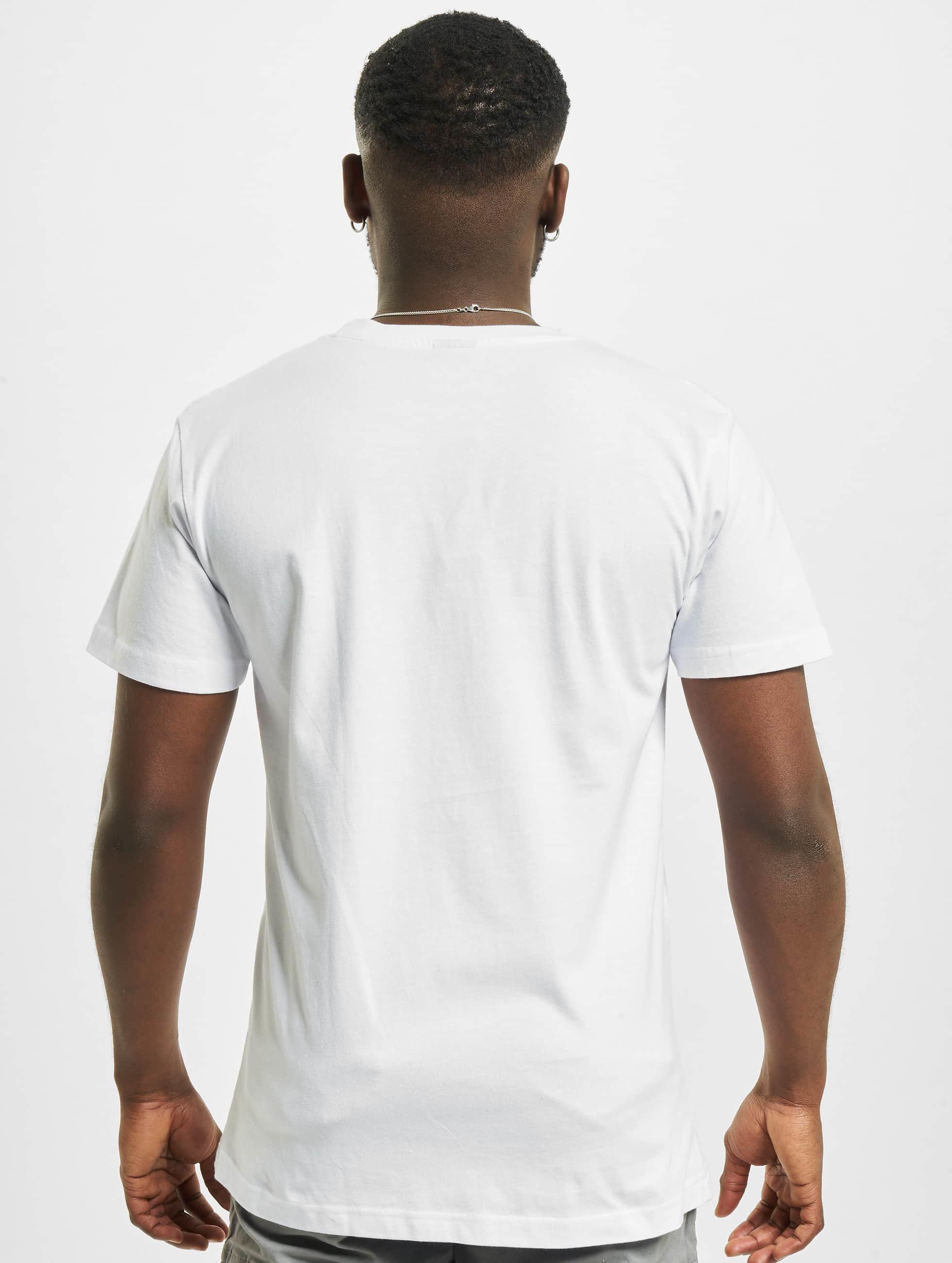 Mister Tee T-Shirt Fake Love weiß