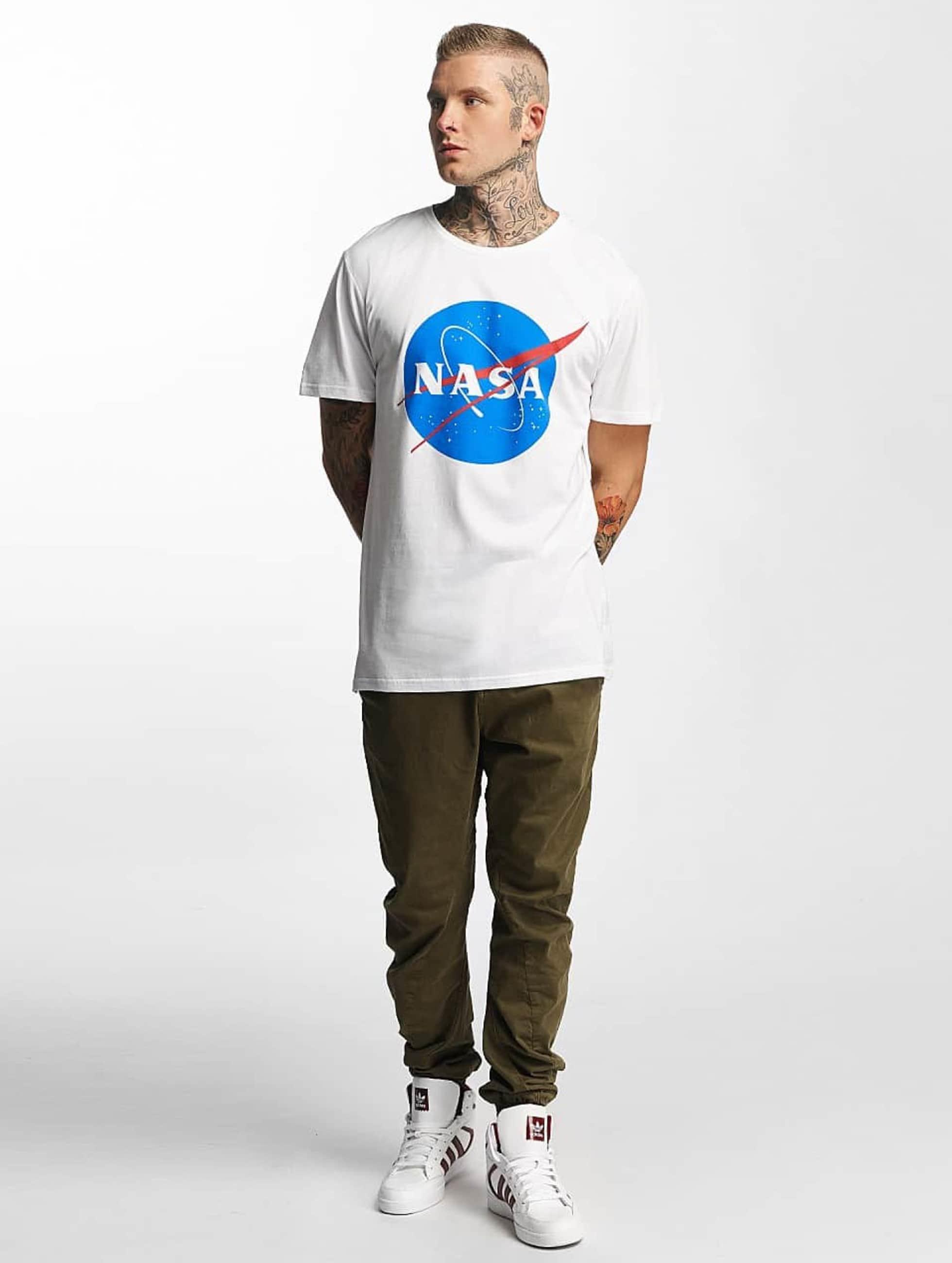 Mister Tee T-Shirt NASA weiß