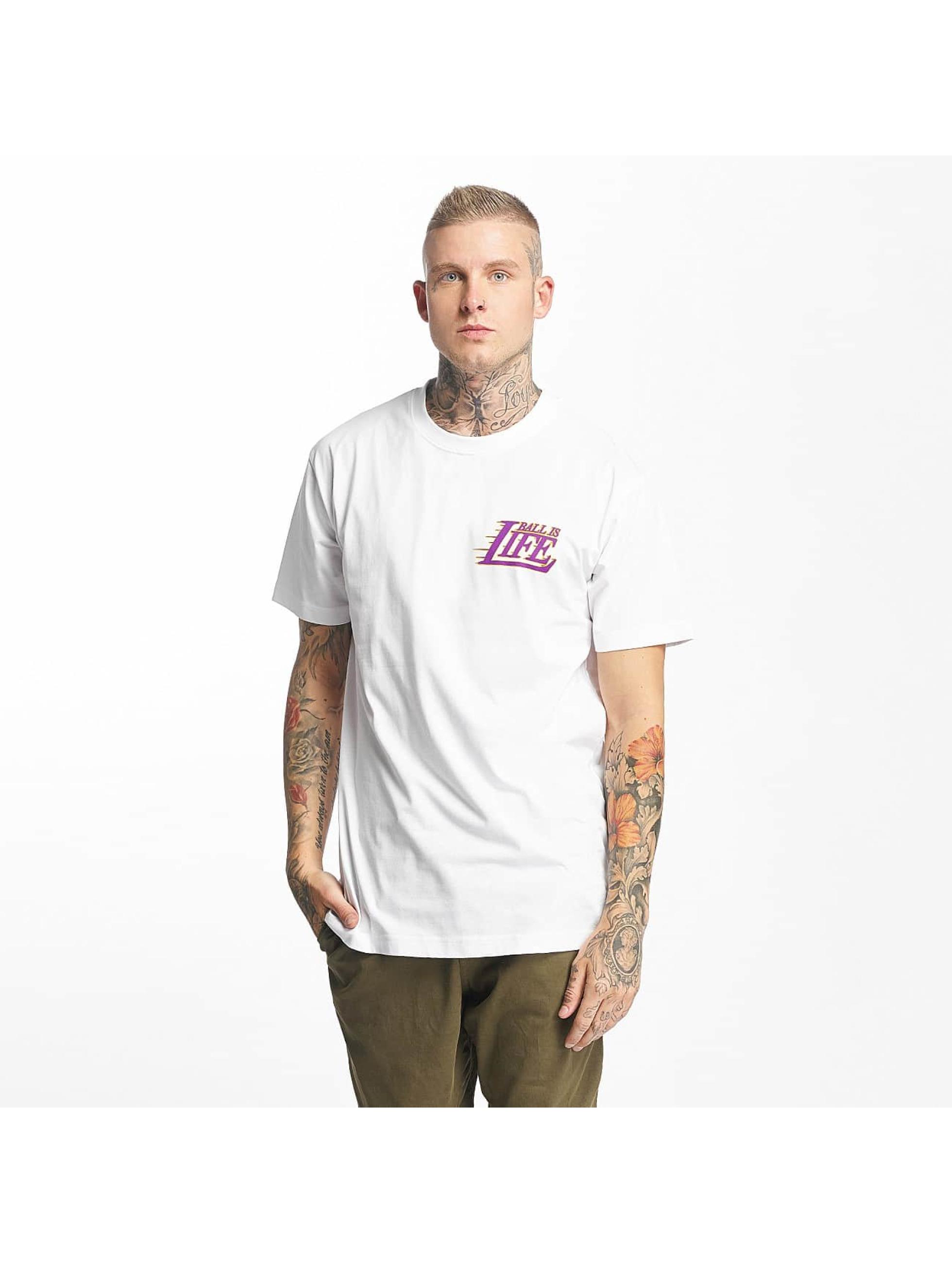 Mister Tee T-Shirt Ball Is Life weiß