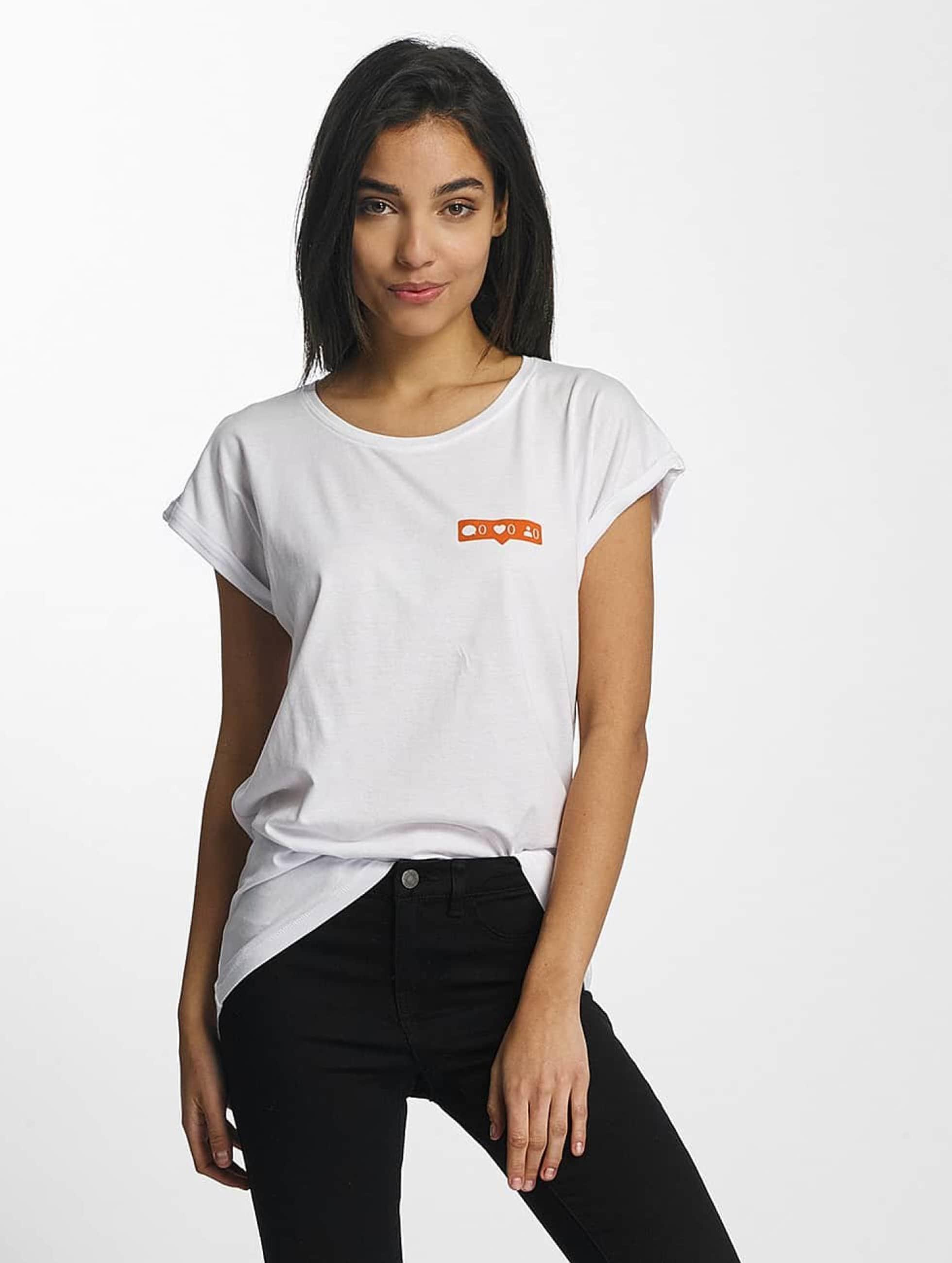 Mister Tee T-Shirt Zero Likes weiß