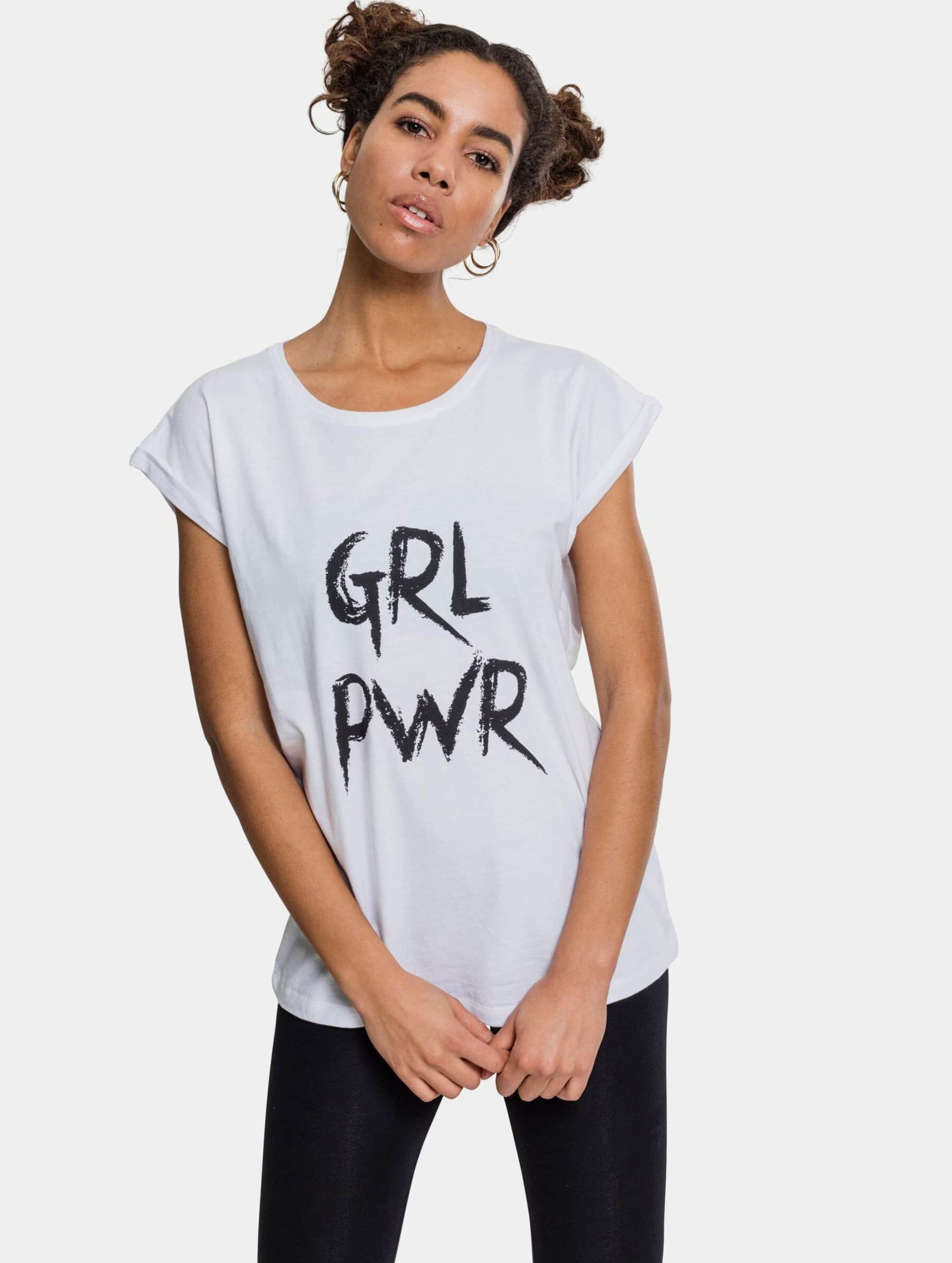 Mister Tee T-Shirt GRL PWR weiß