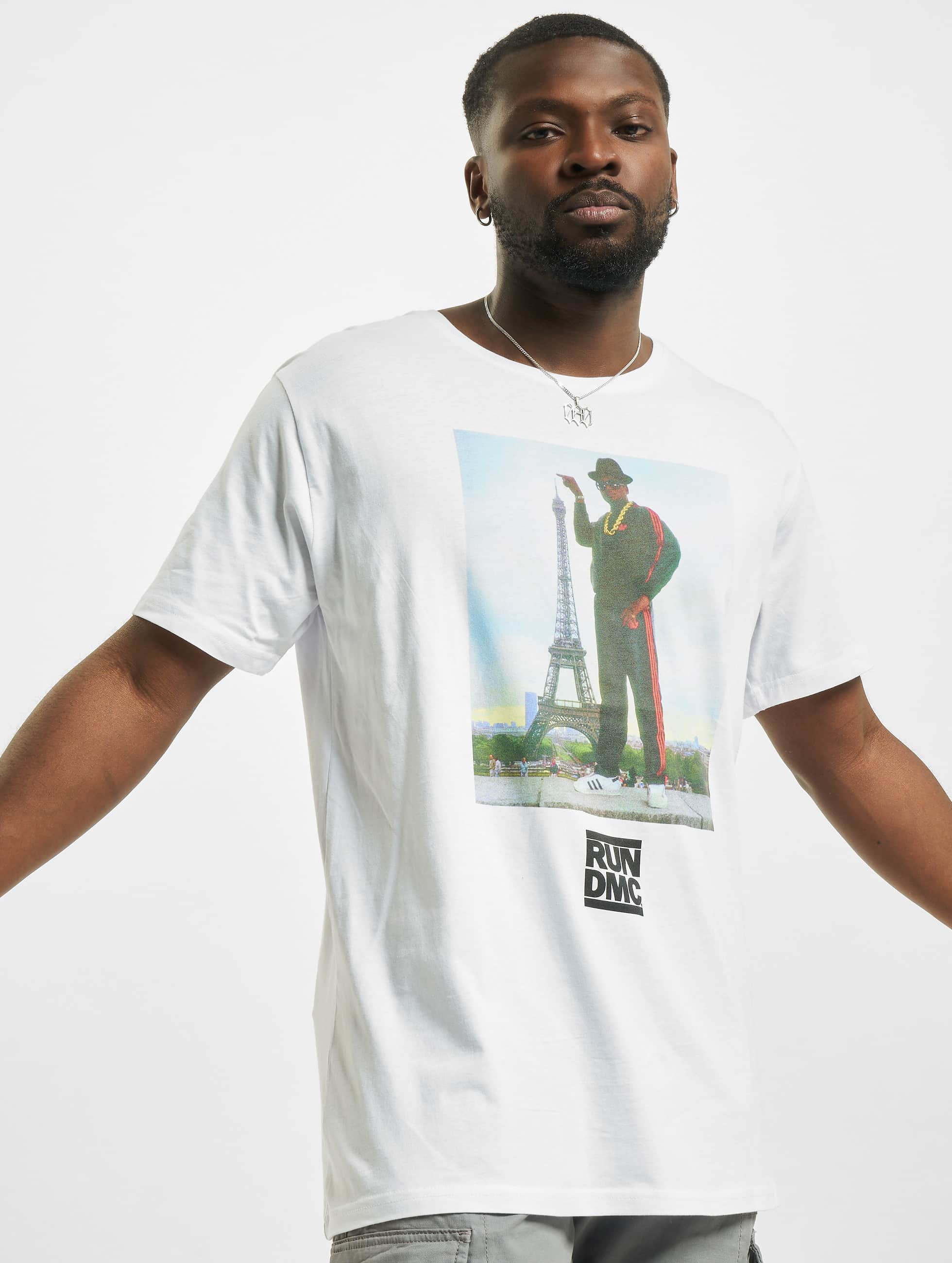 Mister Tee T-Shirt Run DMC Paris white