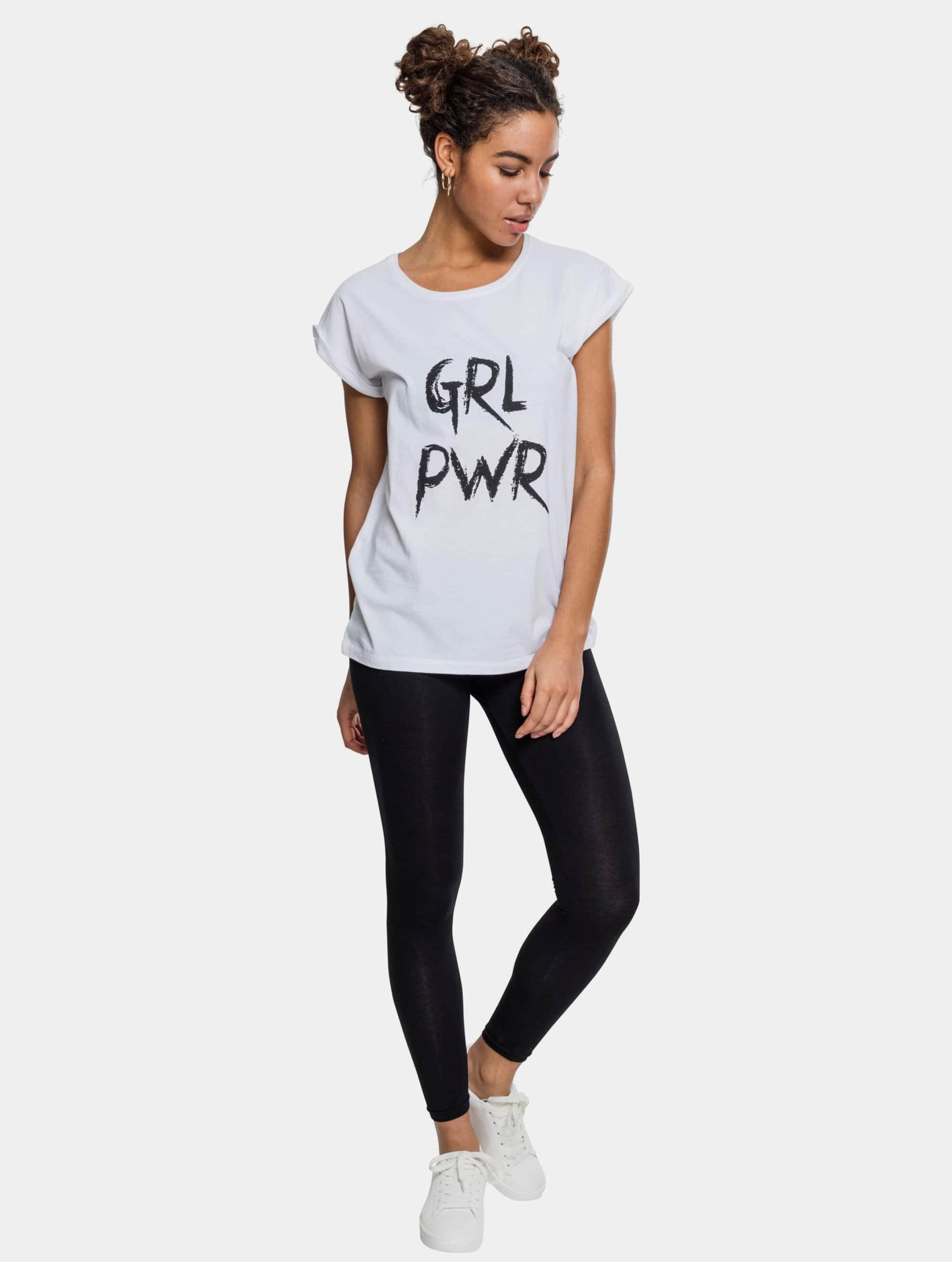 Mister Tee T-Shirt GRL PWR white