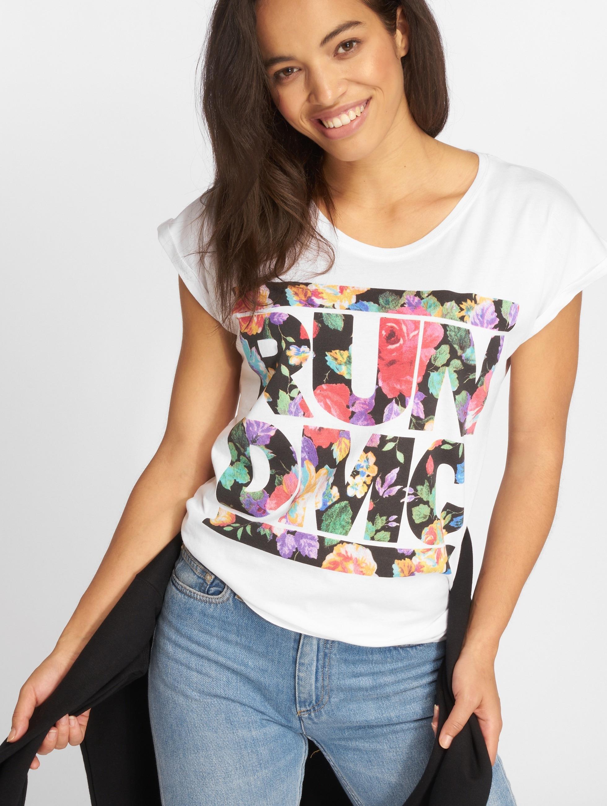 Mister Tee t-shirt Run DMC Floral wit