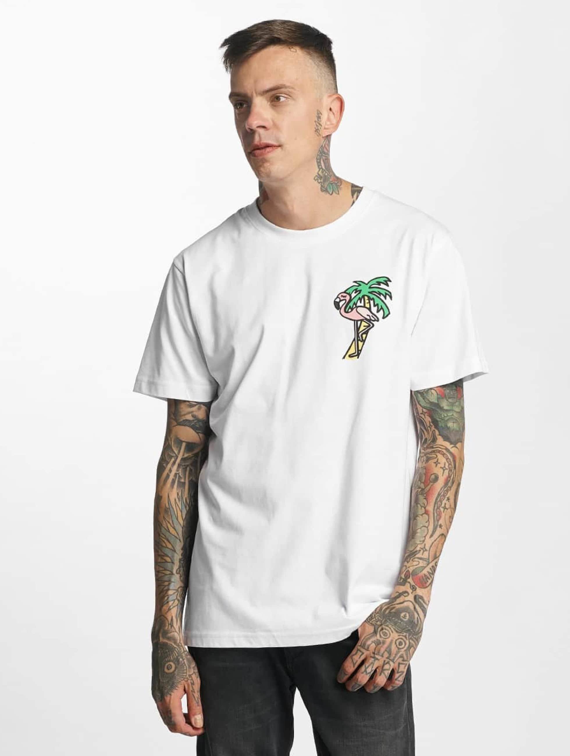 Mister Tee t-shirt Flamingo wit