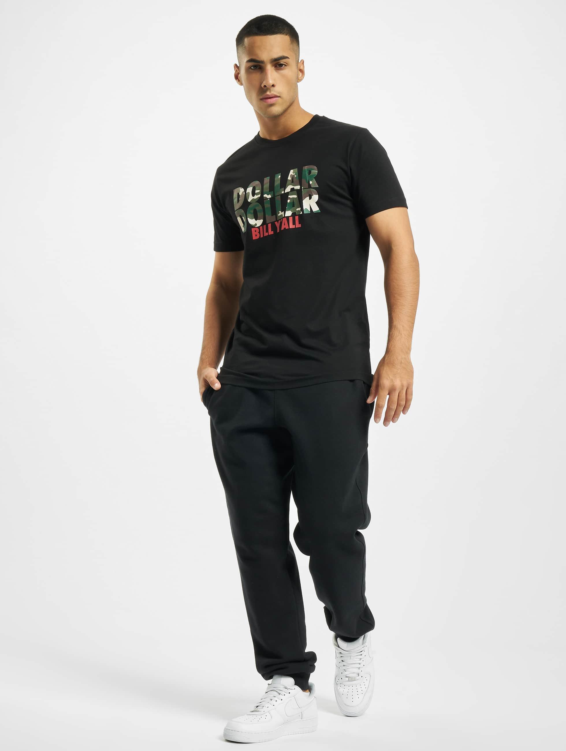 Mister Tee t-shirt Dollar zwart