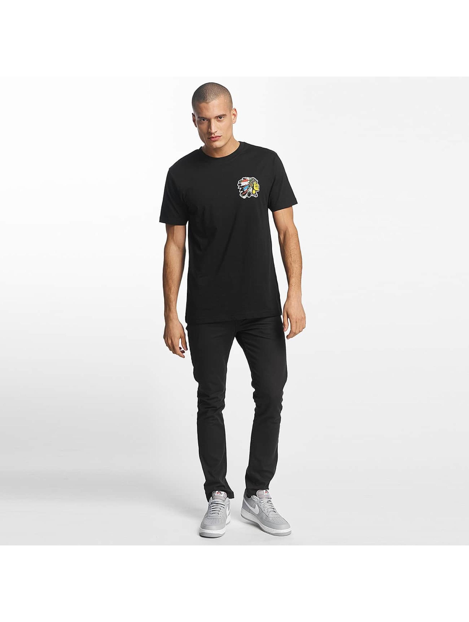 Mister Tee t-shirt Indian Logo zwart