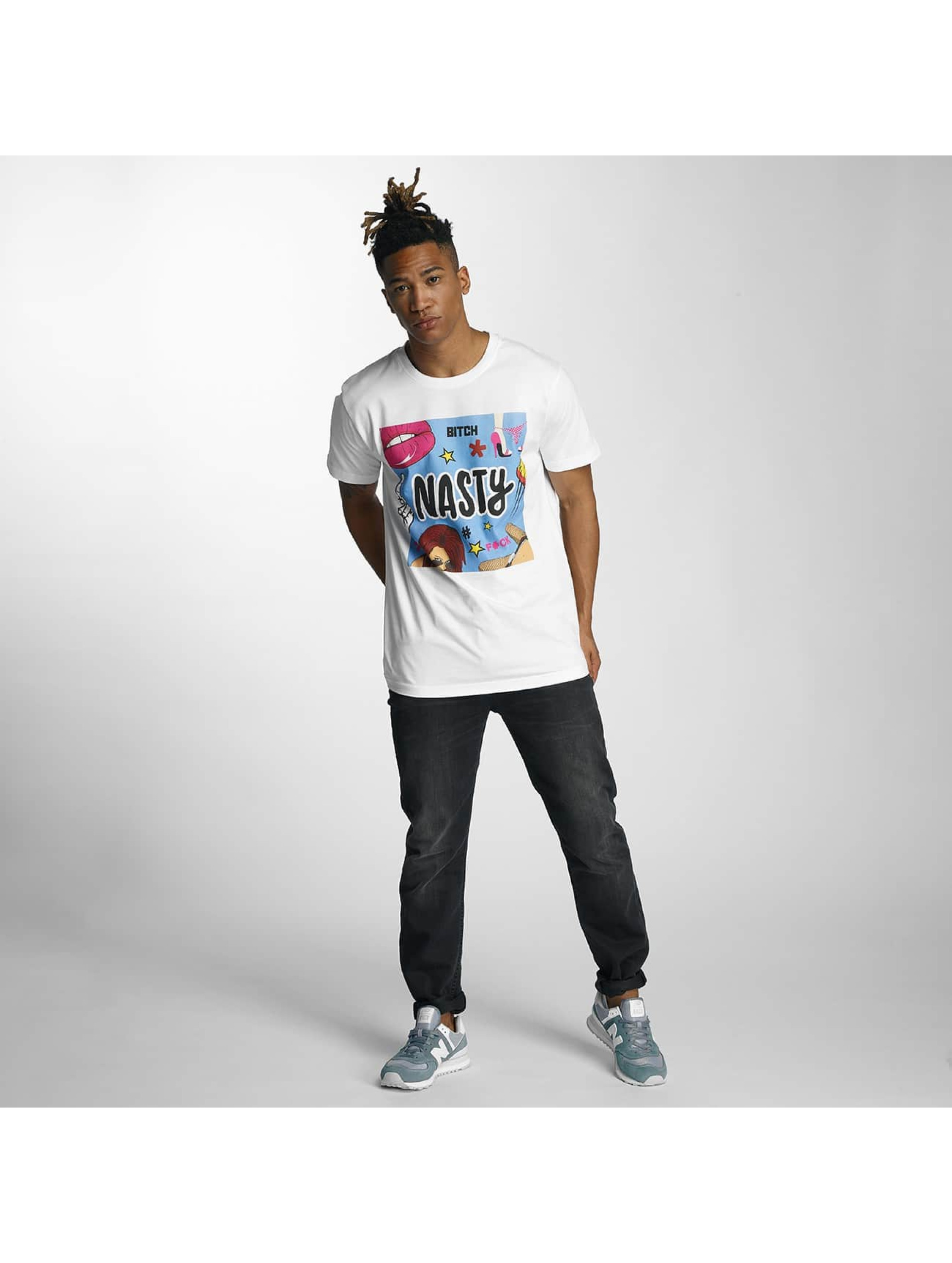 Mister Tee T-shirts Nasty hvid