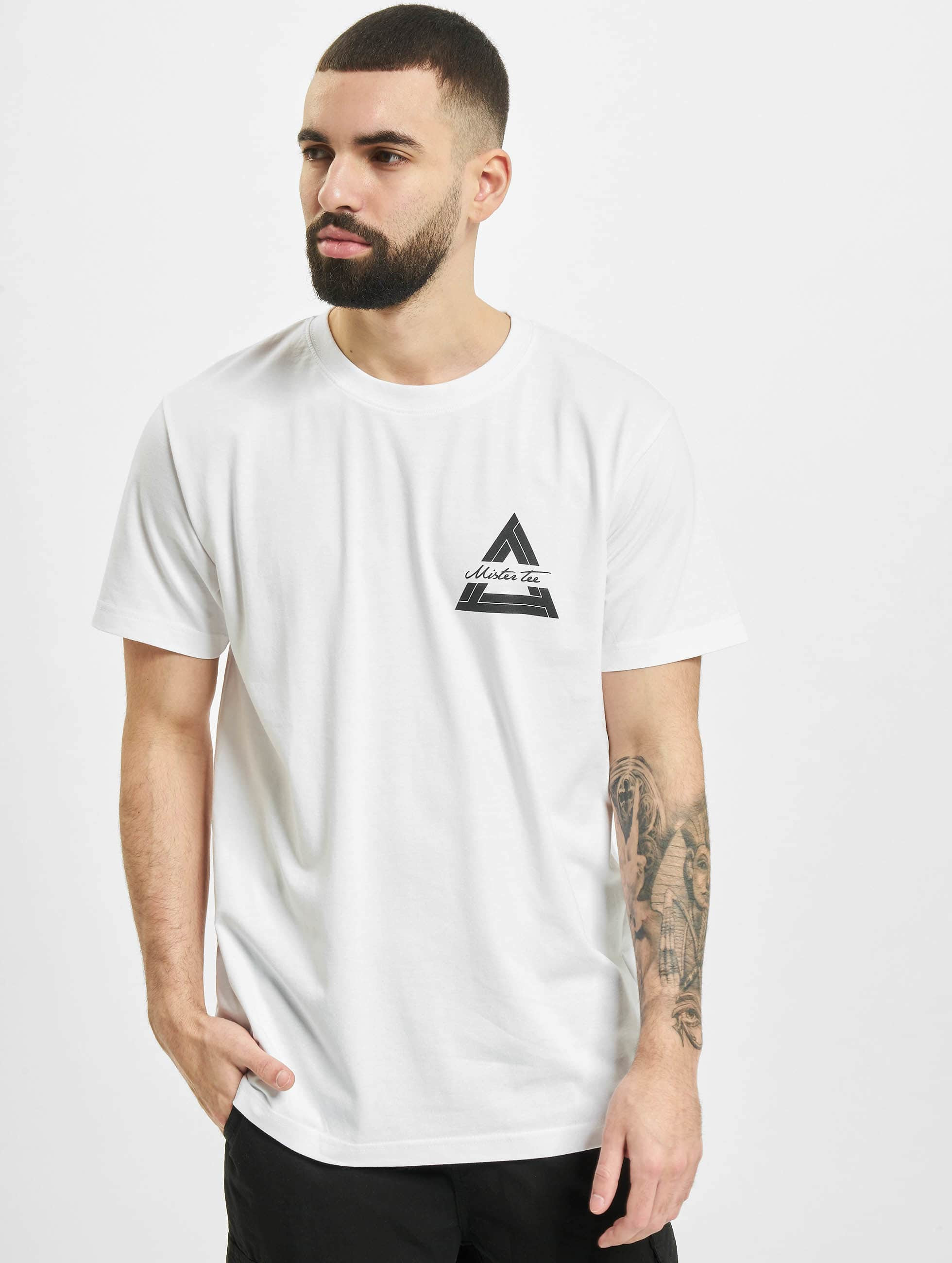Mister Tee T-shirts Triangle hvid
