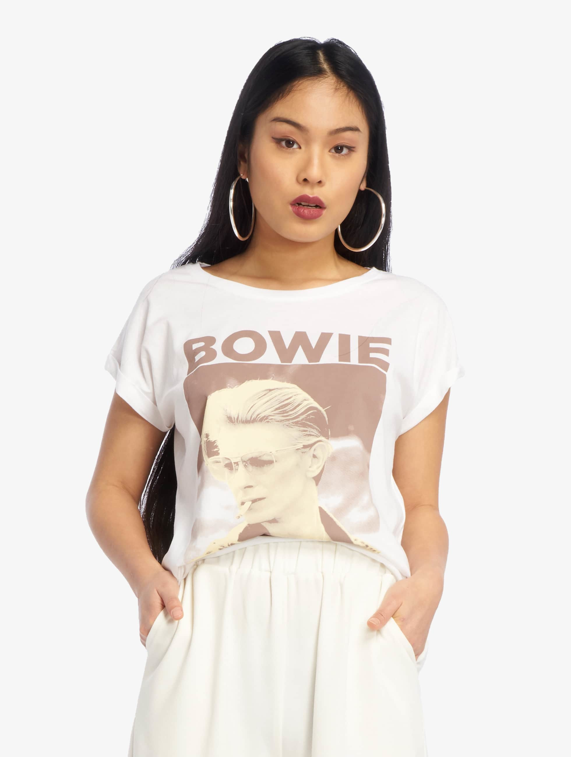 Mister Tee T-Shirty David Bowie bialy