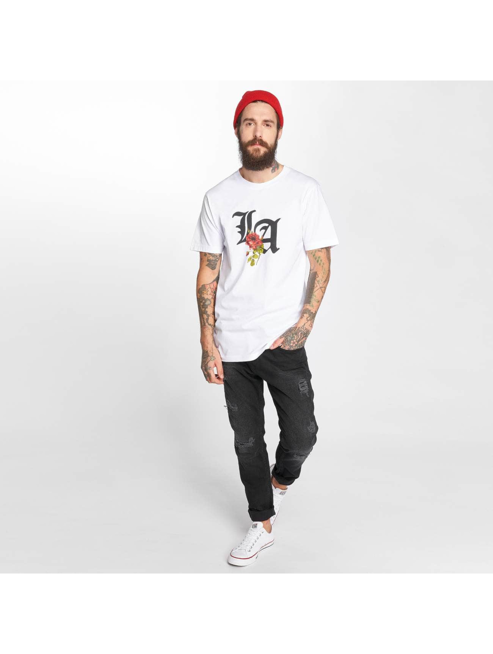 Mister Tee T-Shirty LA Rose bialy