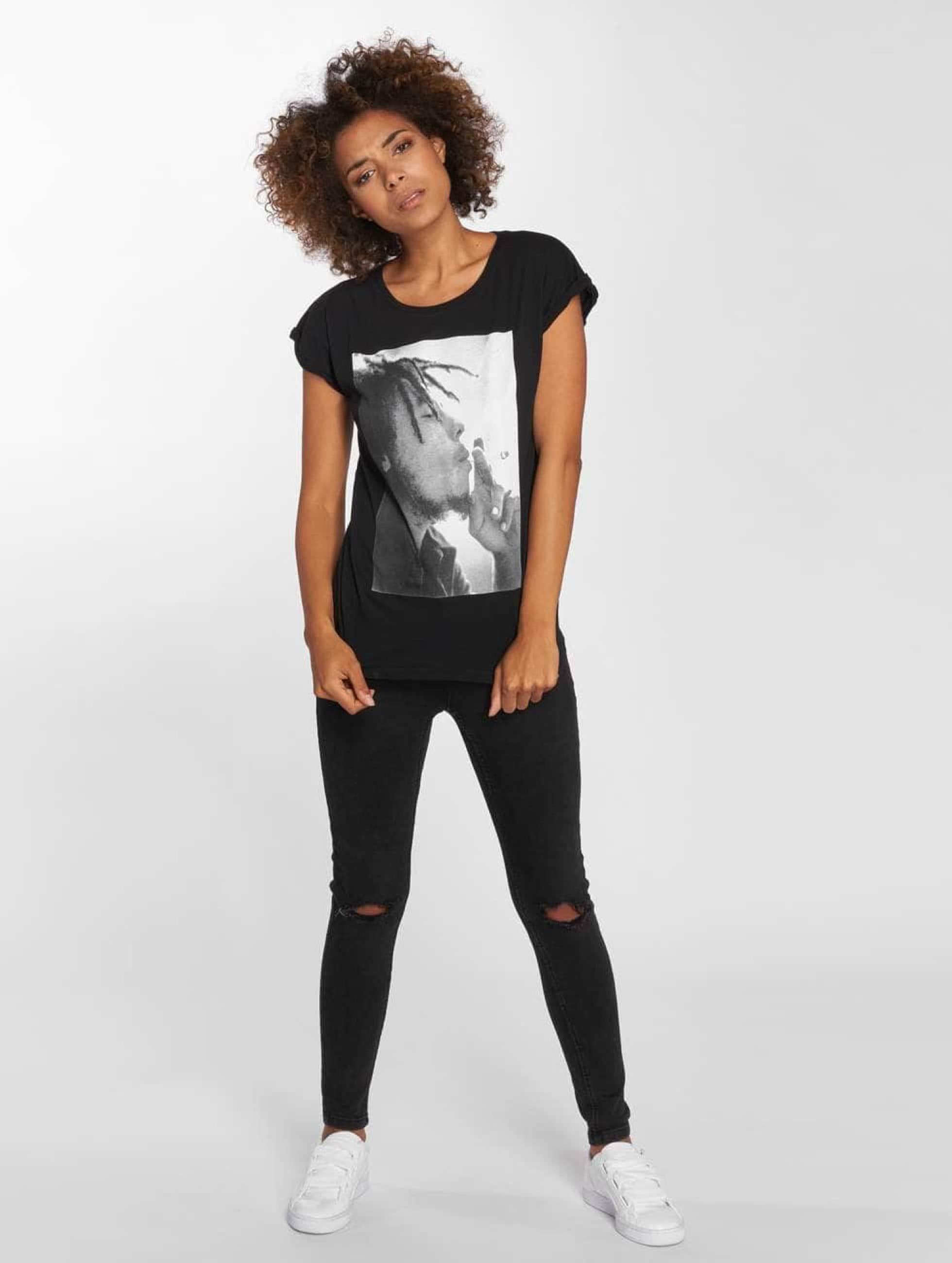 Mister Tee T-Shirty Bob Marley czarny