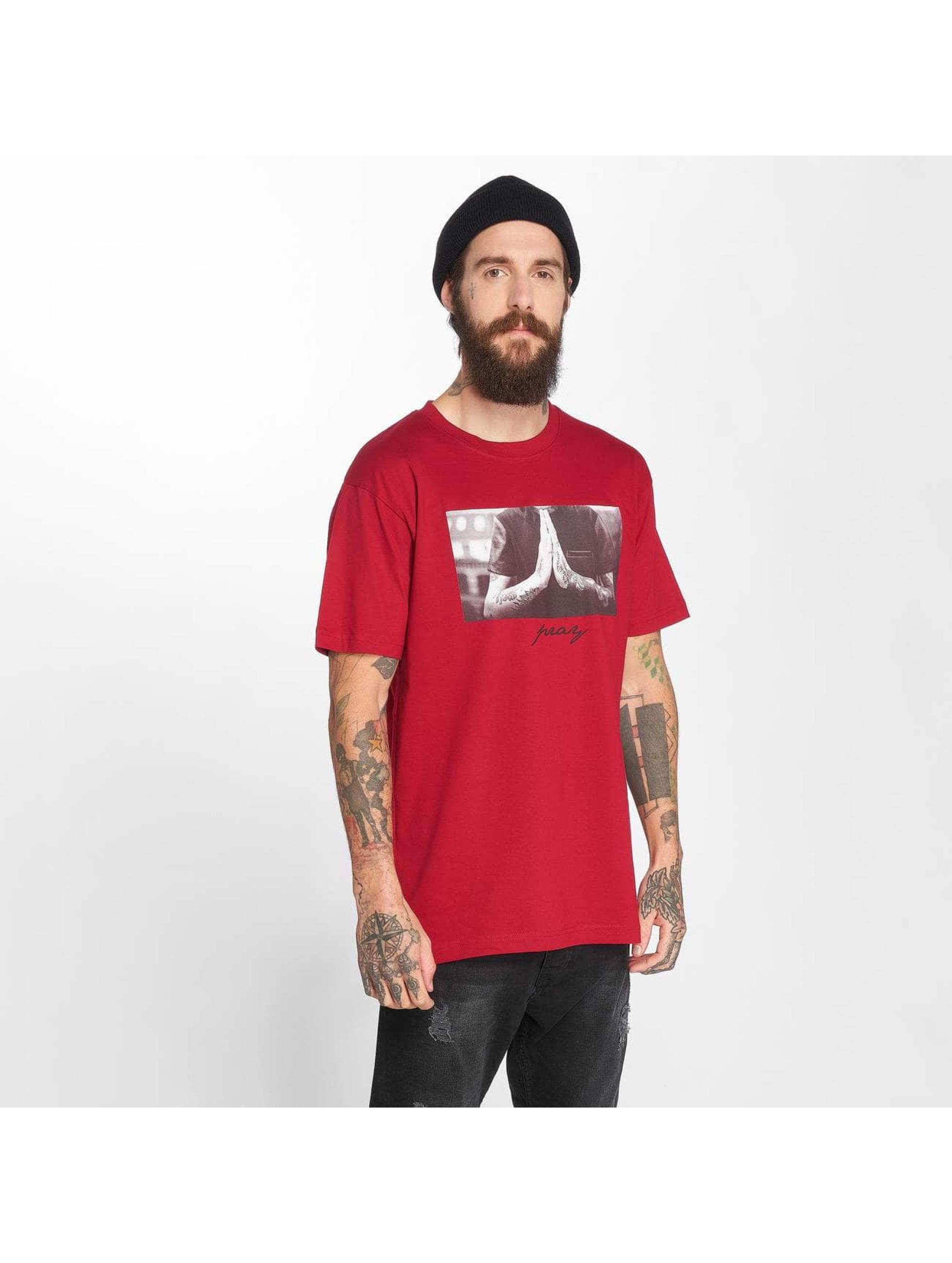 Mister Tee T-Shirty Pray czerwony