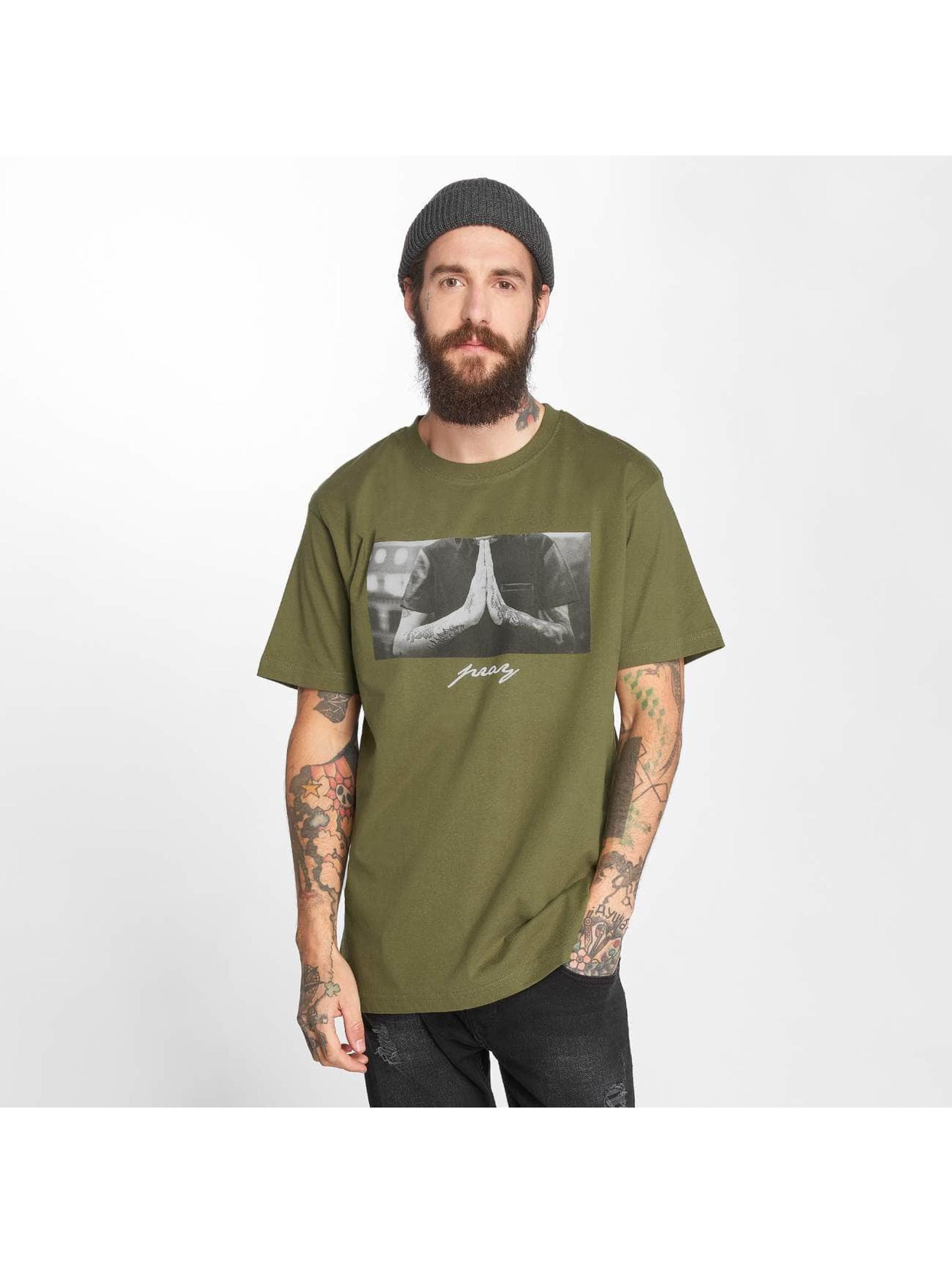Mister Tee T-Shirty Pray oliwkowy