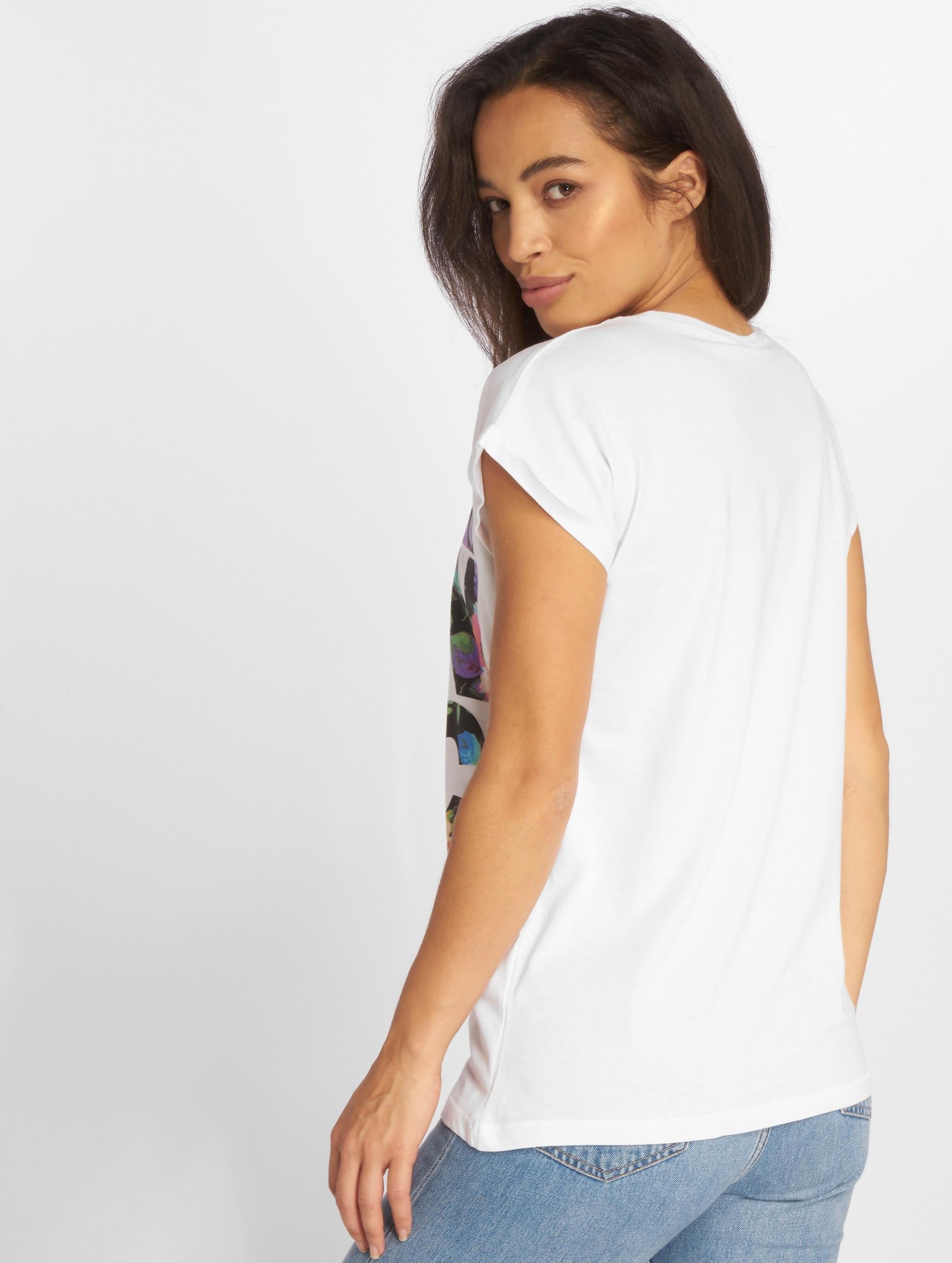 Mister Tee T-skjorter Run DMC Floral hvit